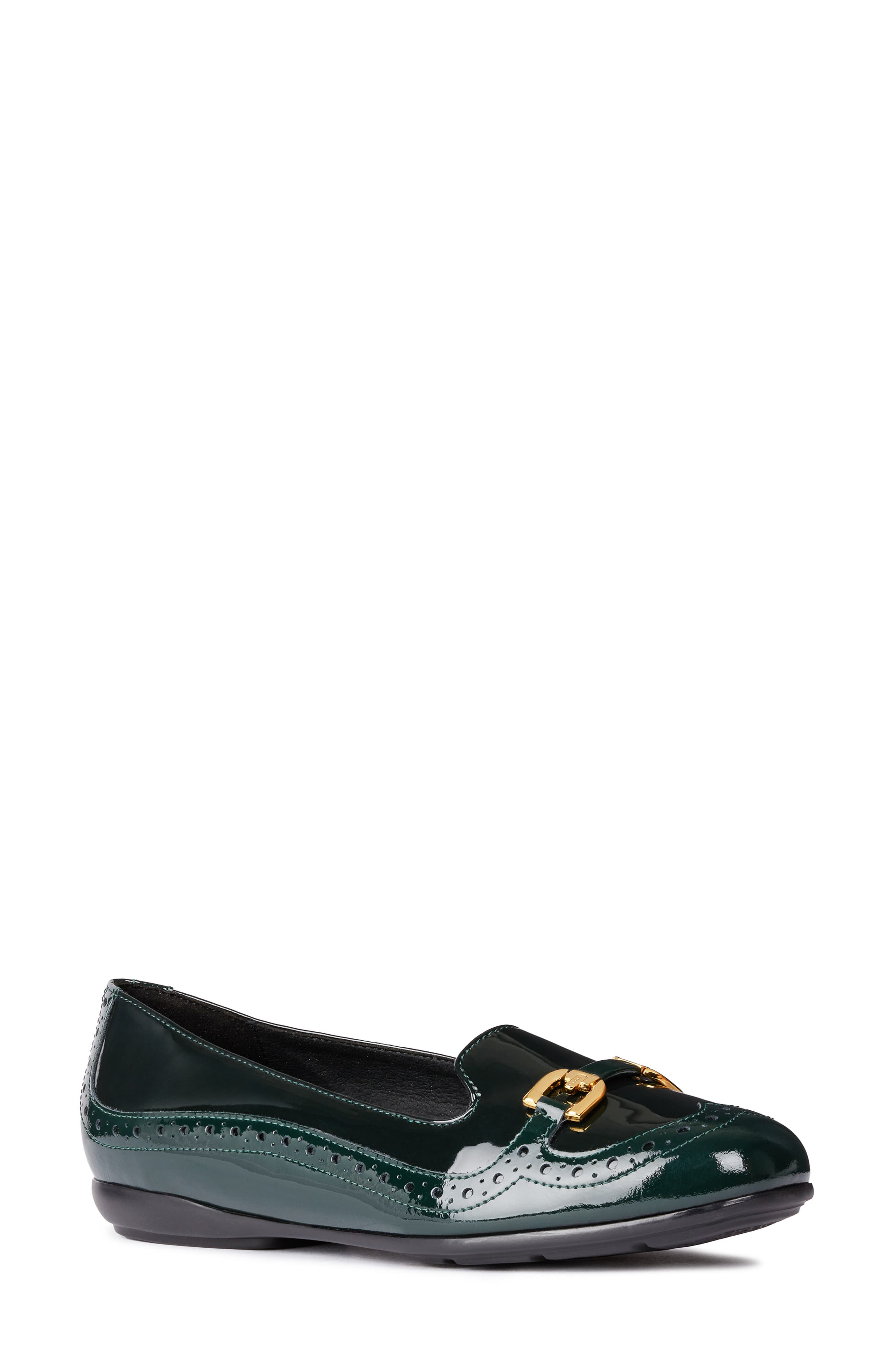 Annytah Loafer,                             Main thumbnail 1, color,                             FOREST FAUX PATENT LEATHER