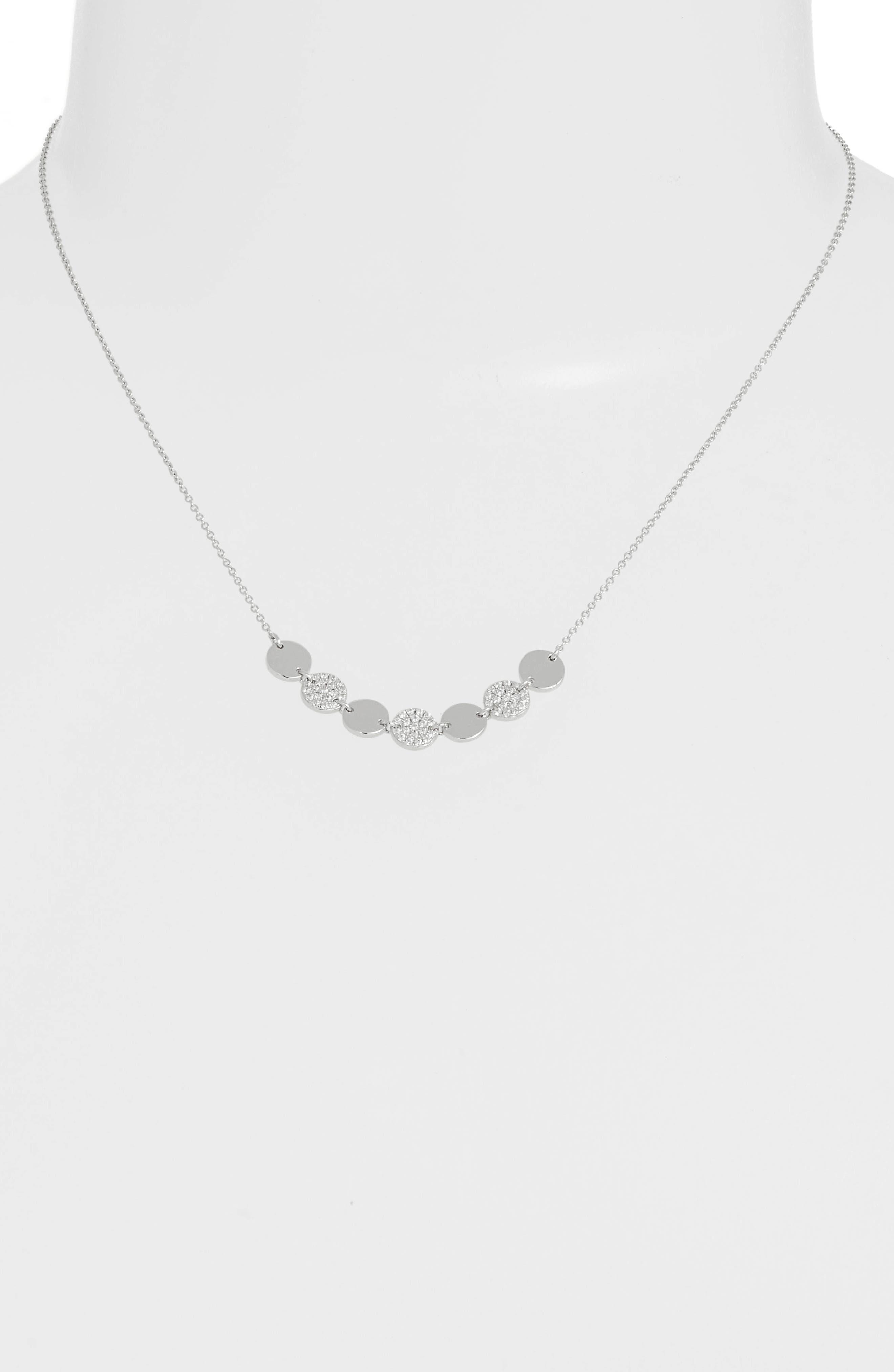 7 Symbols of Joy Choker Necklace,                             Alternate thumbnail 2, color,                             SILVER/ CLEAR