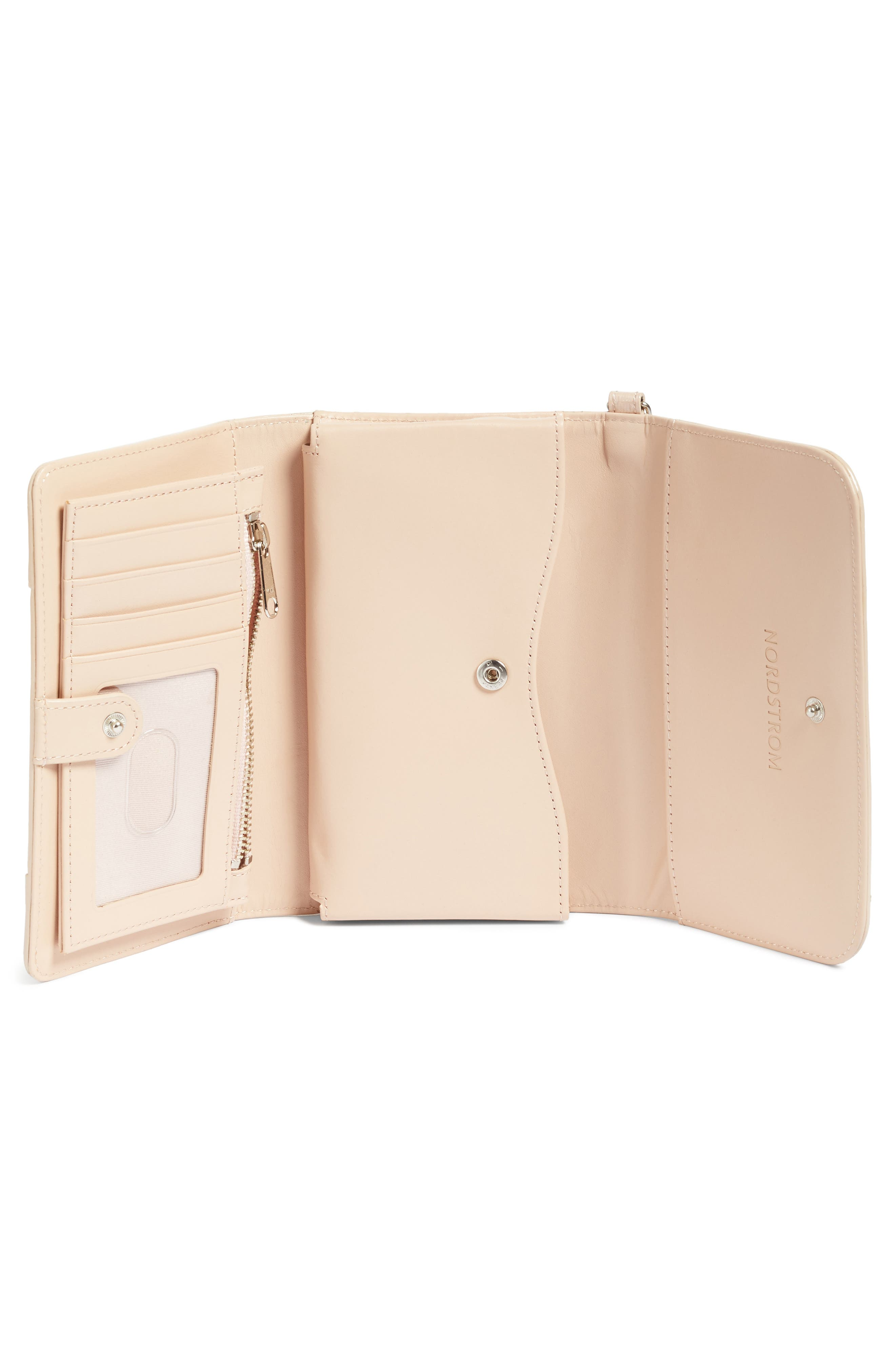 Trifold Leather Wallet,                             Alternate thumbnail 12, color,