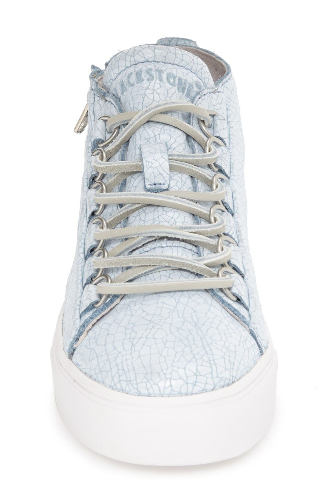 'LL60' Midi Sneaker,                             Alternate thumbnail 3, color,                             BLUE/ WHITE LEATHER