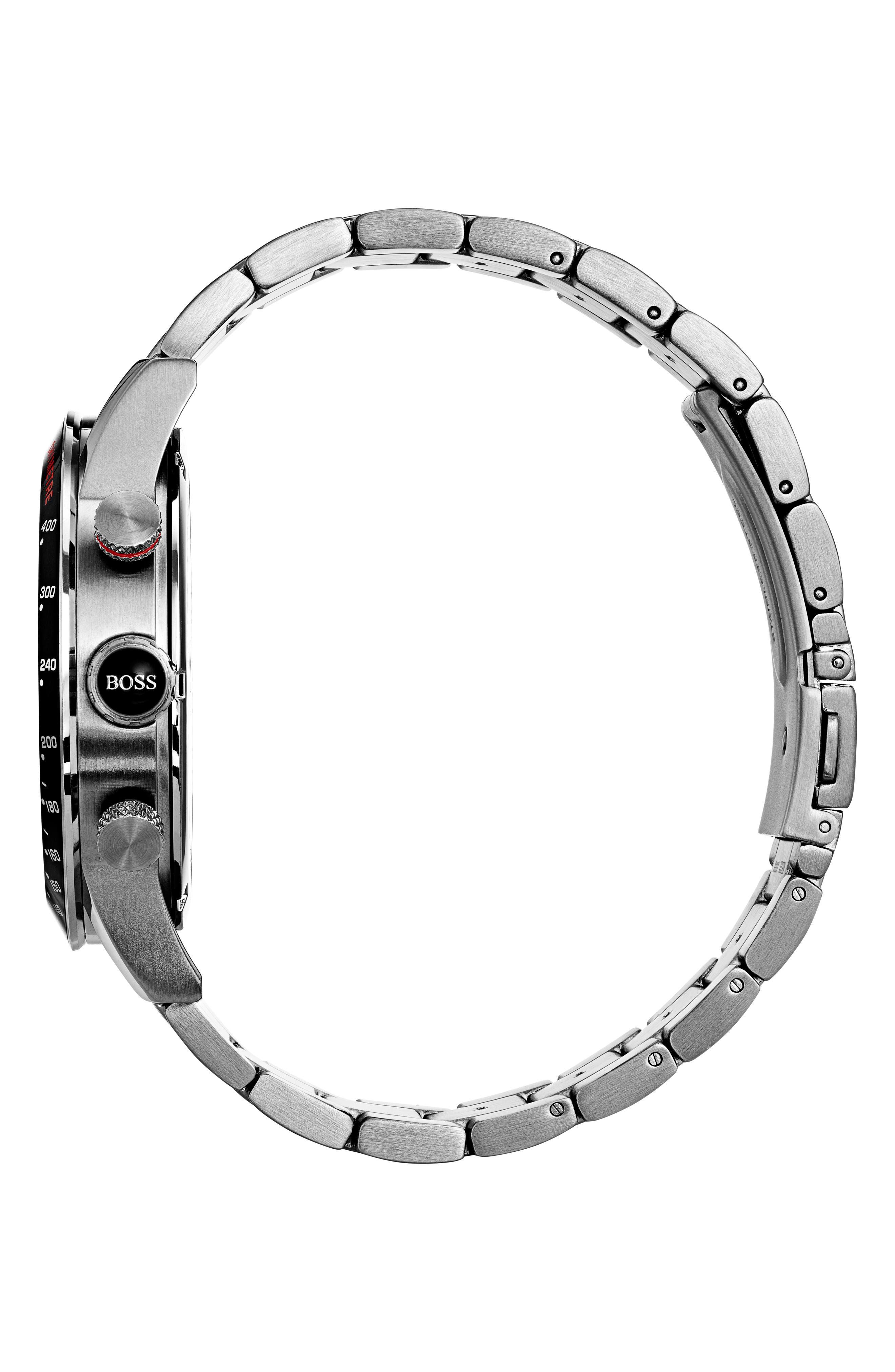 Rafale Chronograph Bracelet Watch, 45mm,                             Alternate thumbnail 3, color,                             001