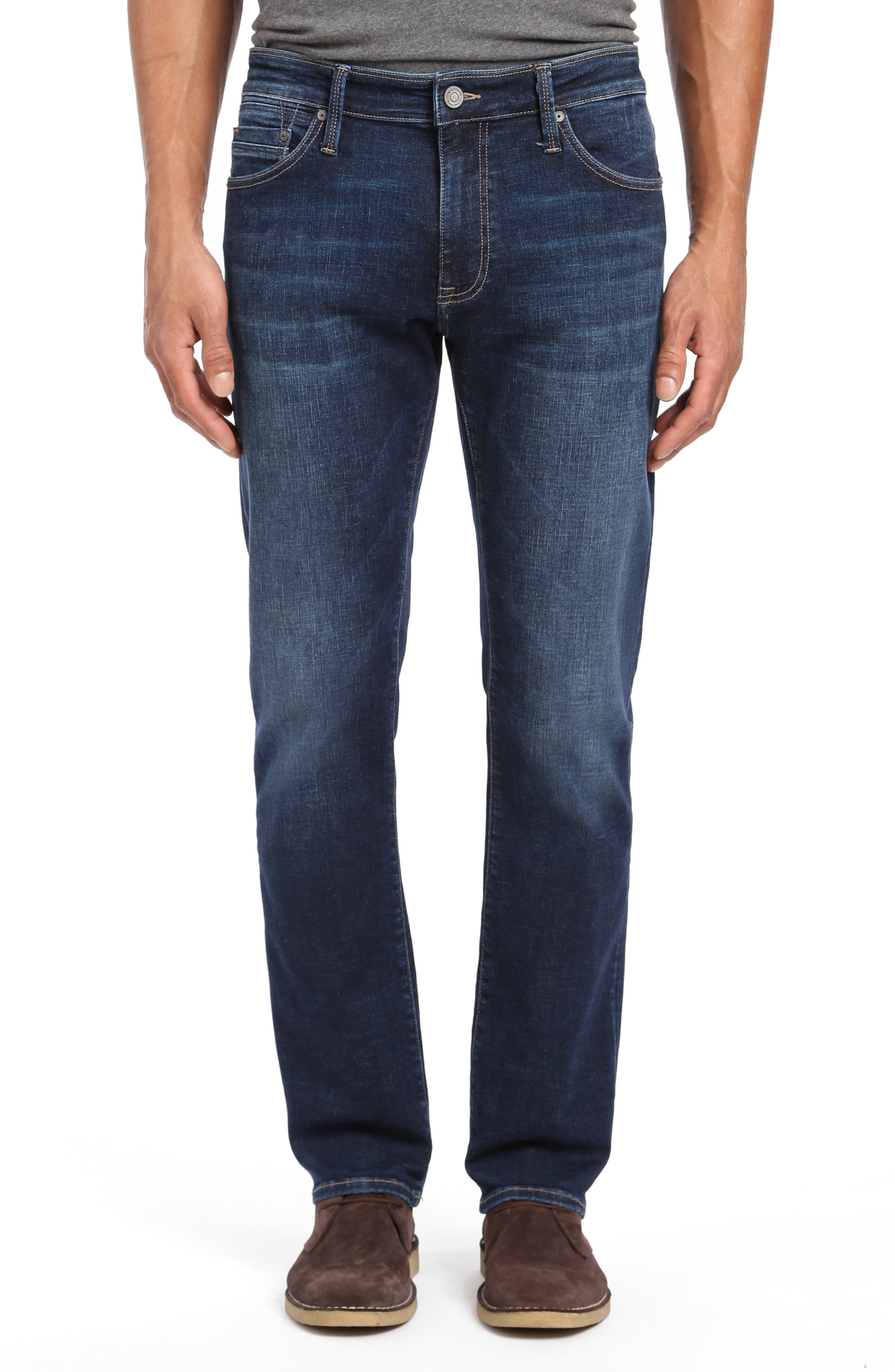 Marcus Slim Straight Leg Jeans,                             Main thumbnail 1, color,                             DEEP BRUSHED CASHMERE