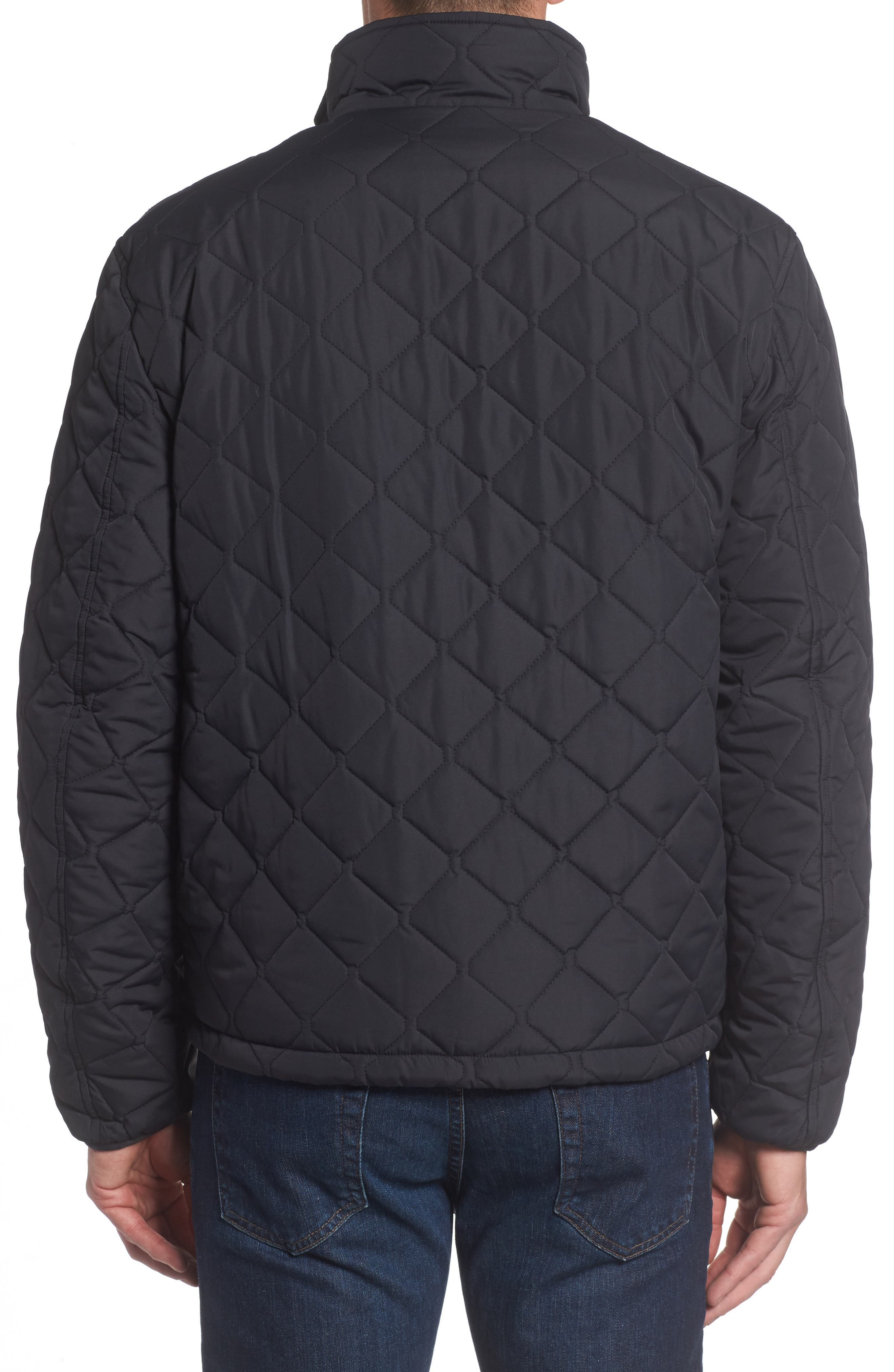 Faux Shearling Lined Quilted Jacket,                             Alternate thumbnail 2, color,                             001