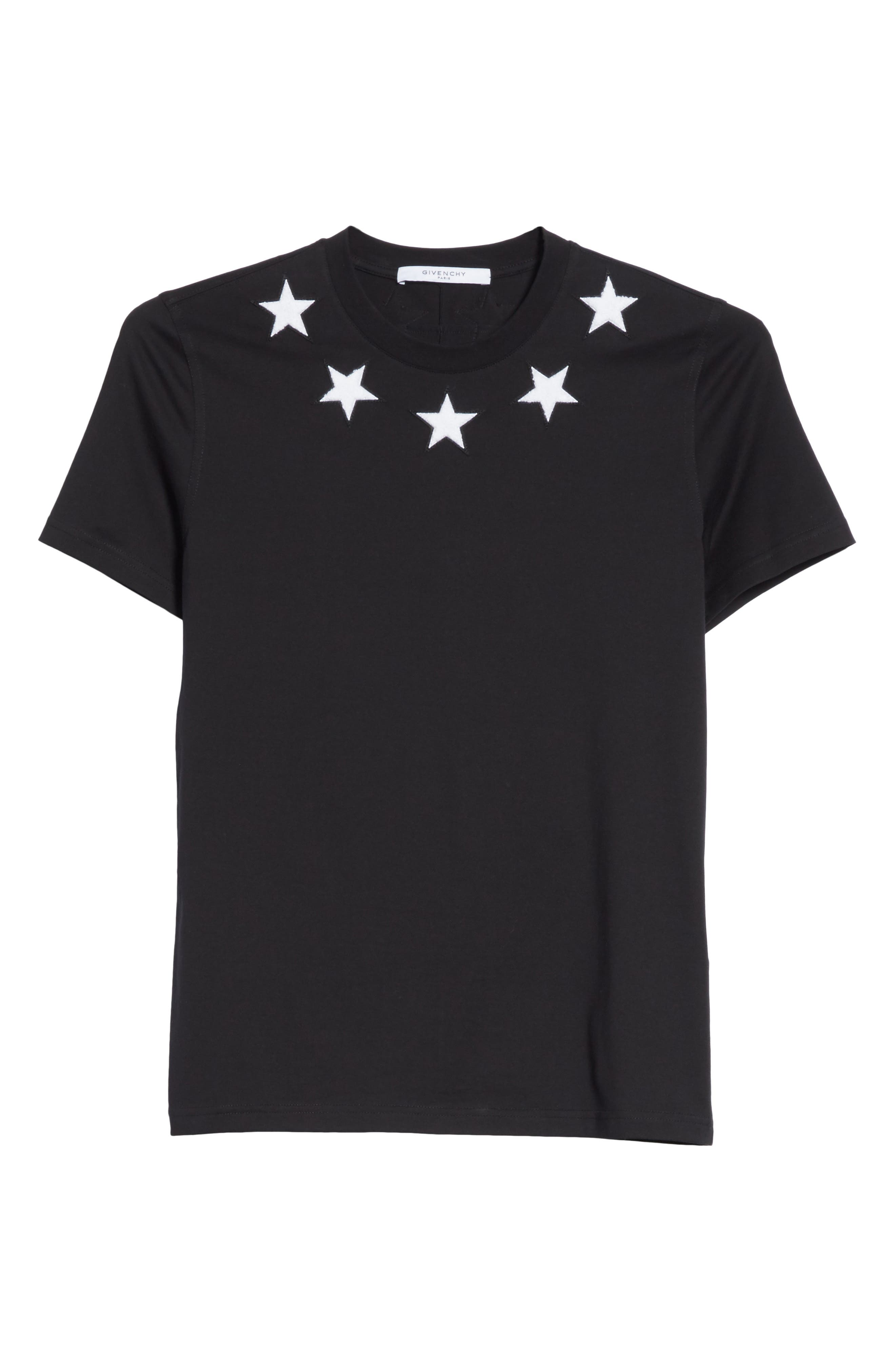 Star Appliqué T-Shirt,                             Alternate thumbnail 6, color,                             001