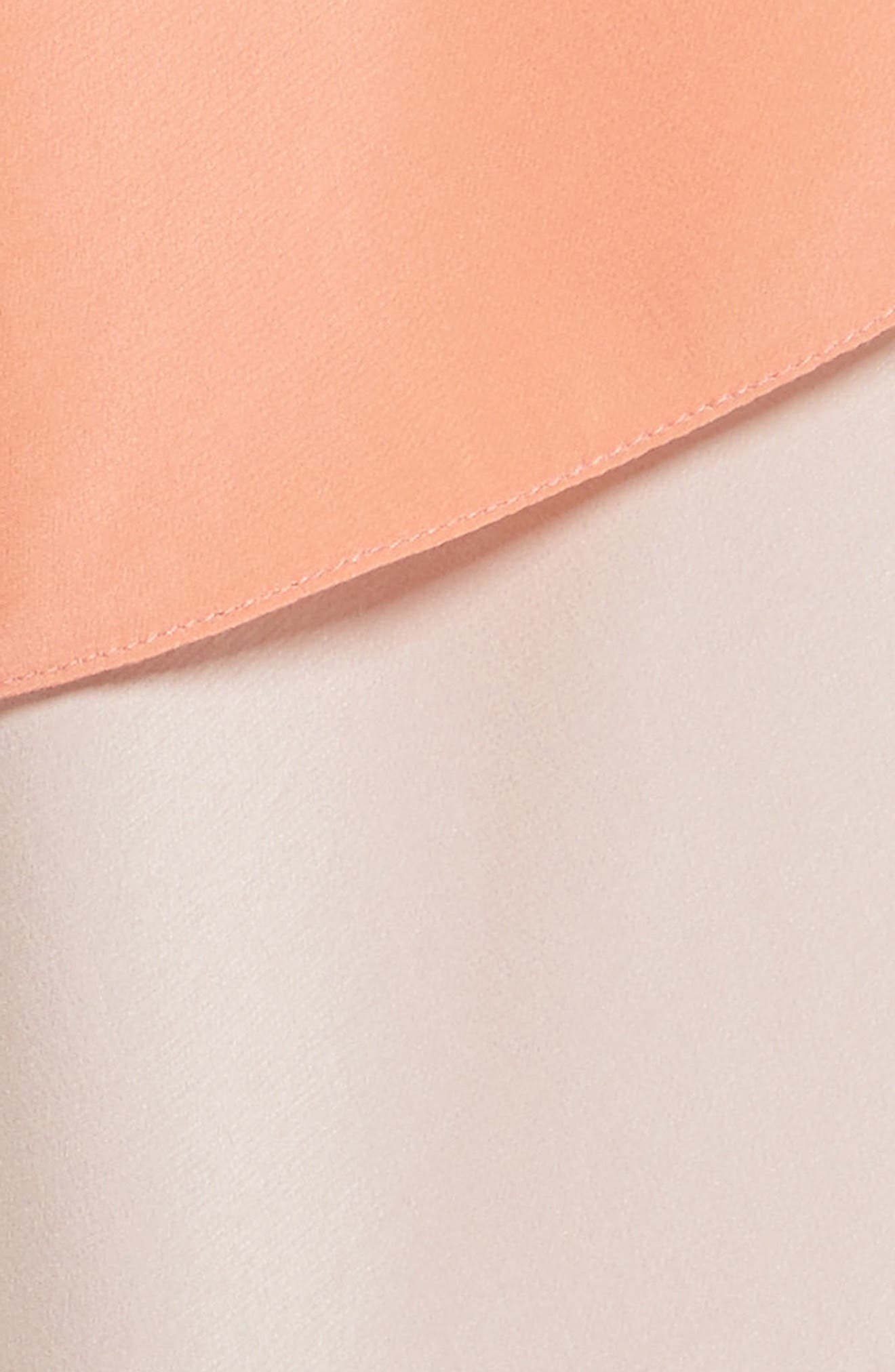 Delma Asymmetric Silk Skirt,                             Alternate thumbnail 5, color,