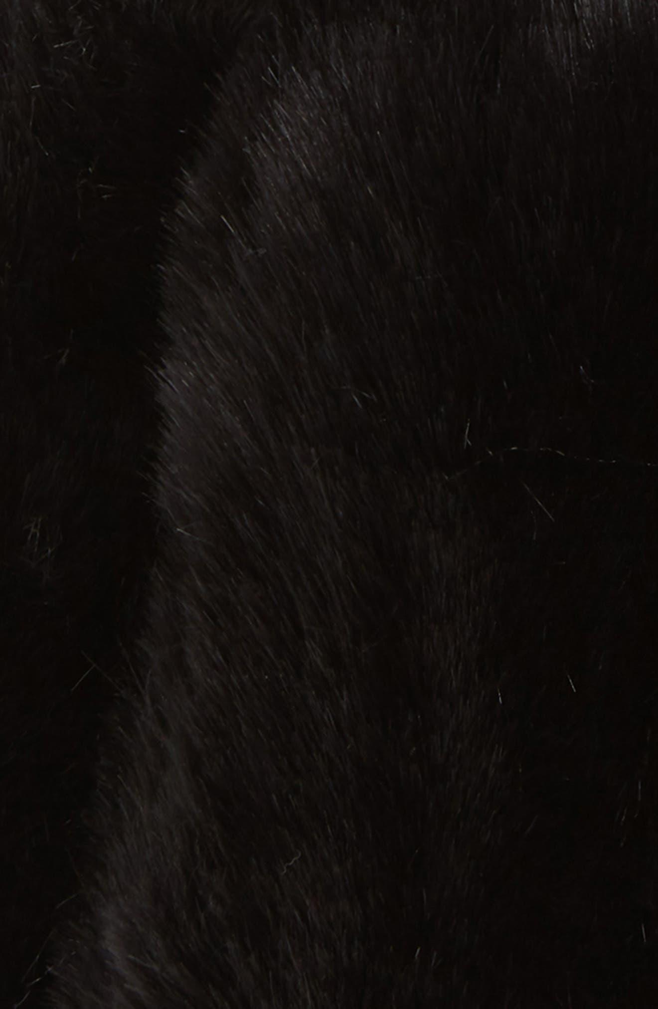 Faux Fur Oversized Pom Hat,                             Alternate thumbnail 2, color,                             001