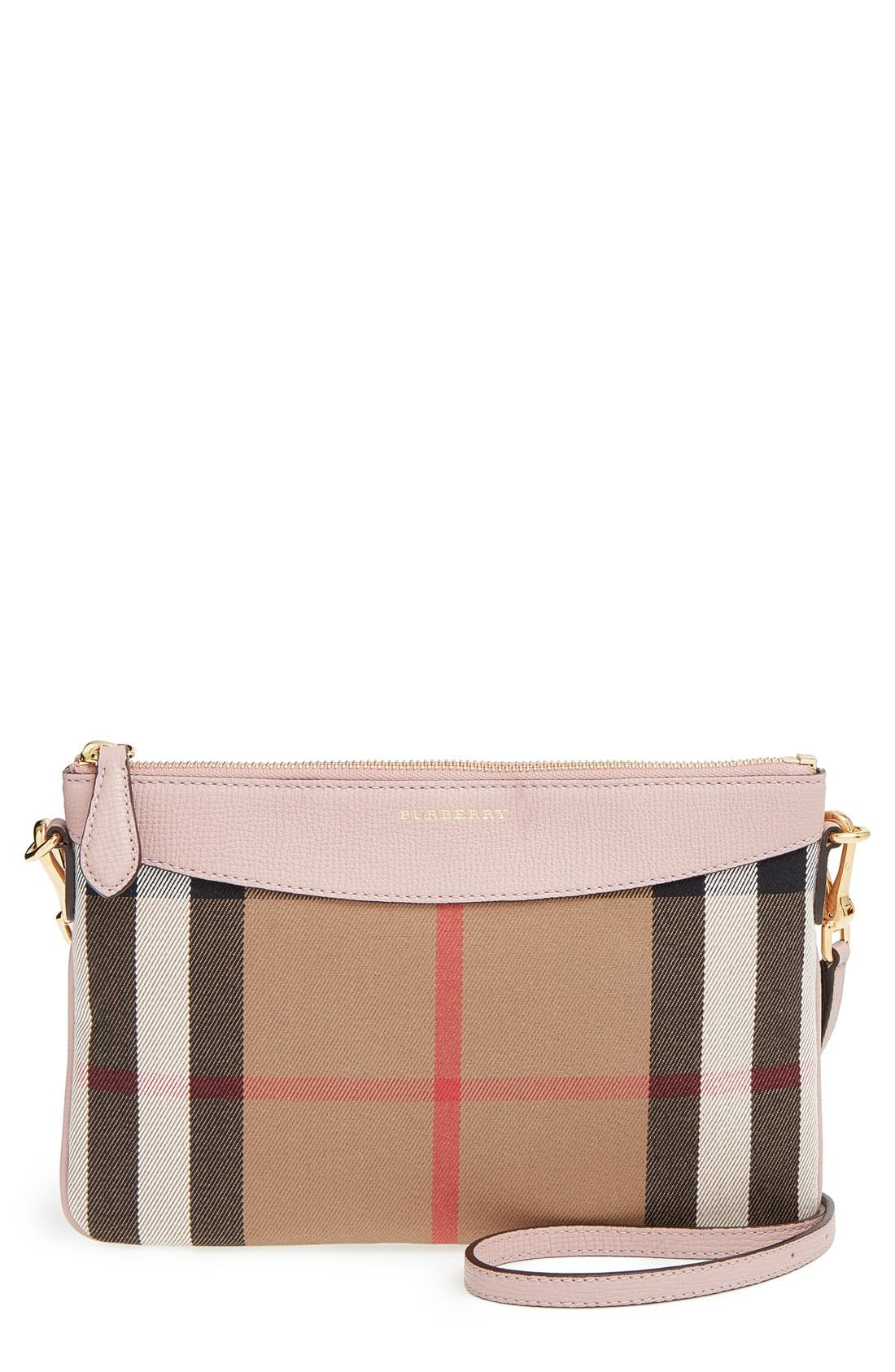 'Peyton - House Check' Crossbody Bag,                             Main thumbnail 1, color,                             500