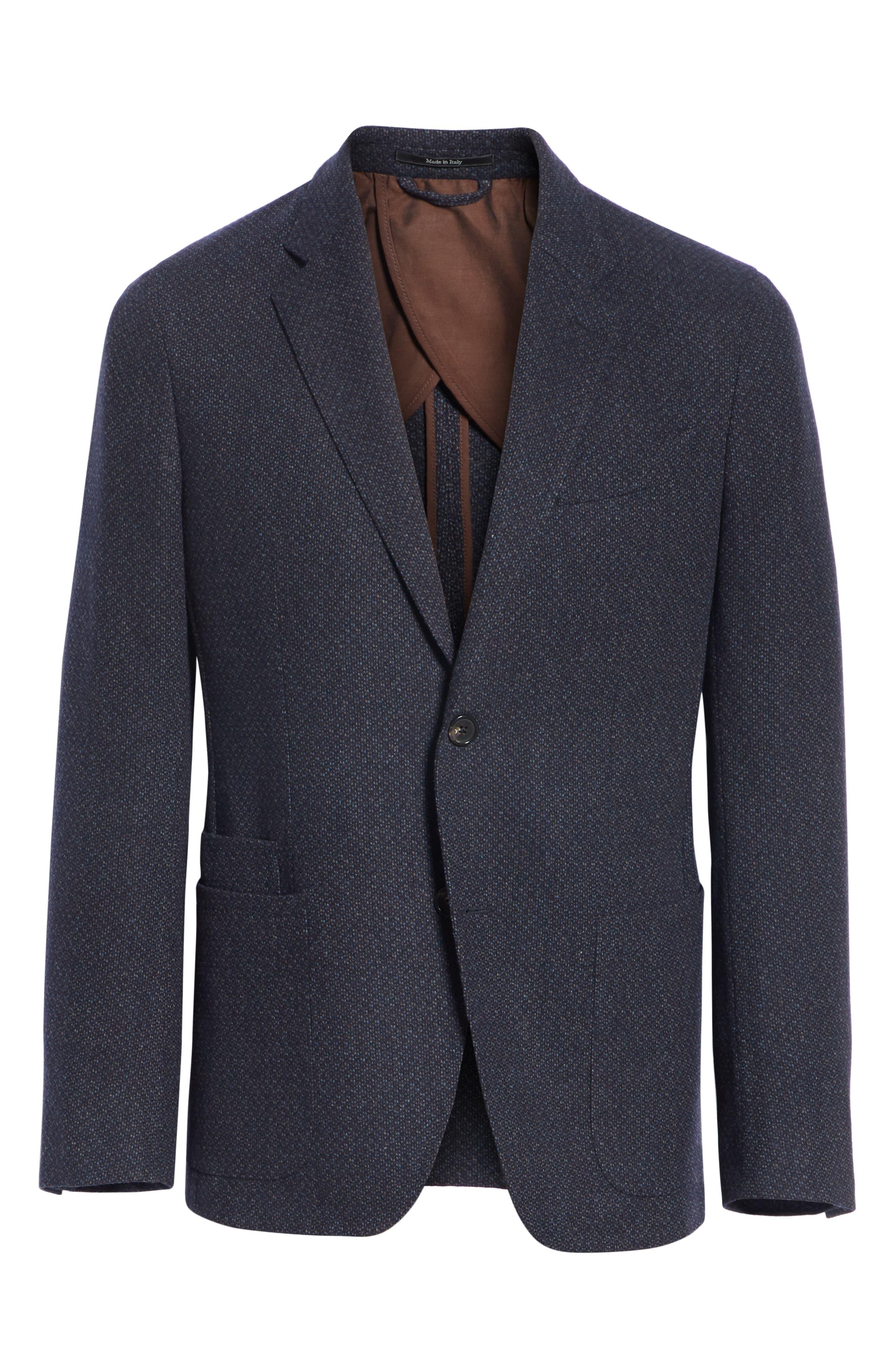 Trim Fit Wool & Cashmere Sport Coat,                             Alternate thumbnail 5, color,                             416