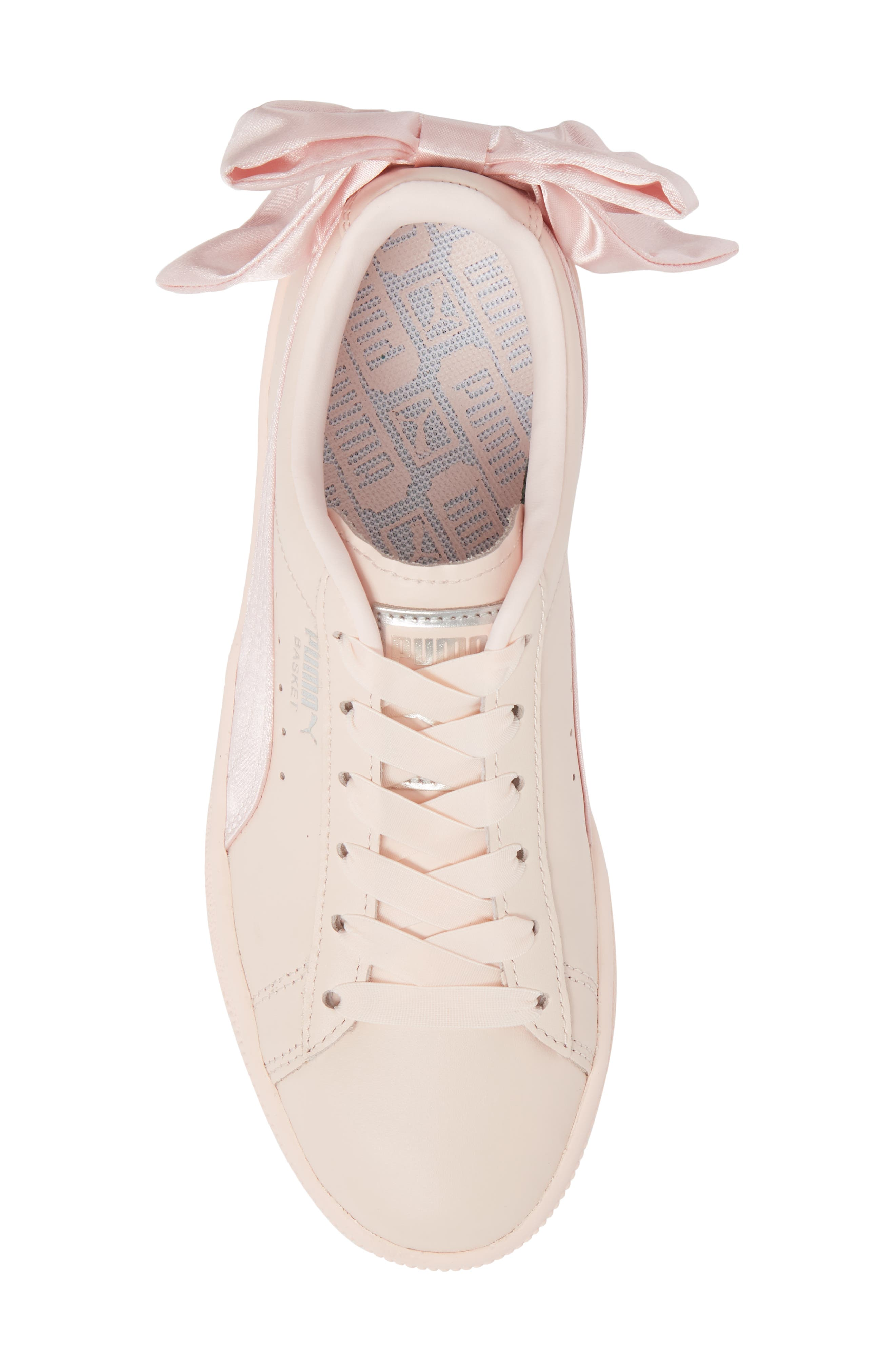 Basket Bow Sneaker,                             Alternate thumbnail 5, color,                             PEARL/ PEARL