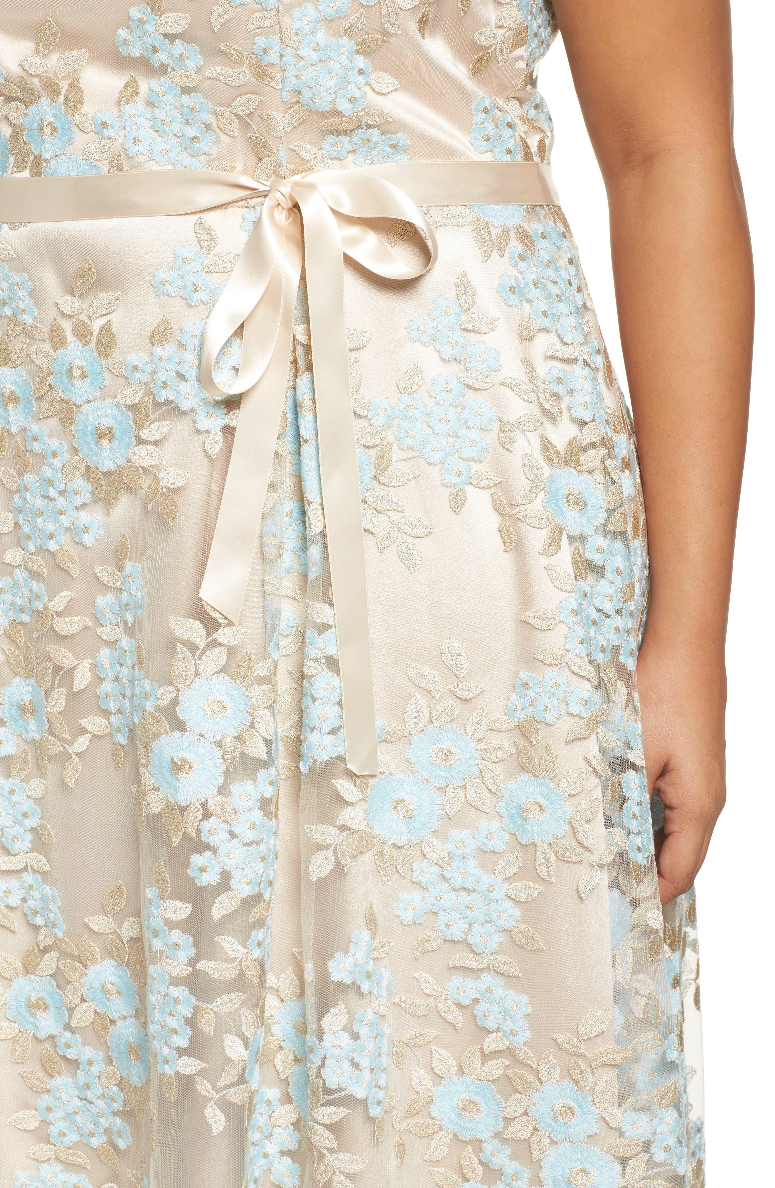 Lace Sleeveless Dress,                             Alternate thumbnail 4, color,                             434