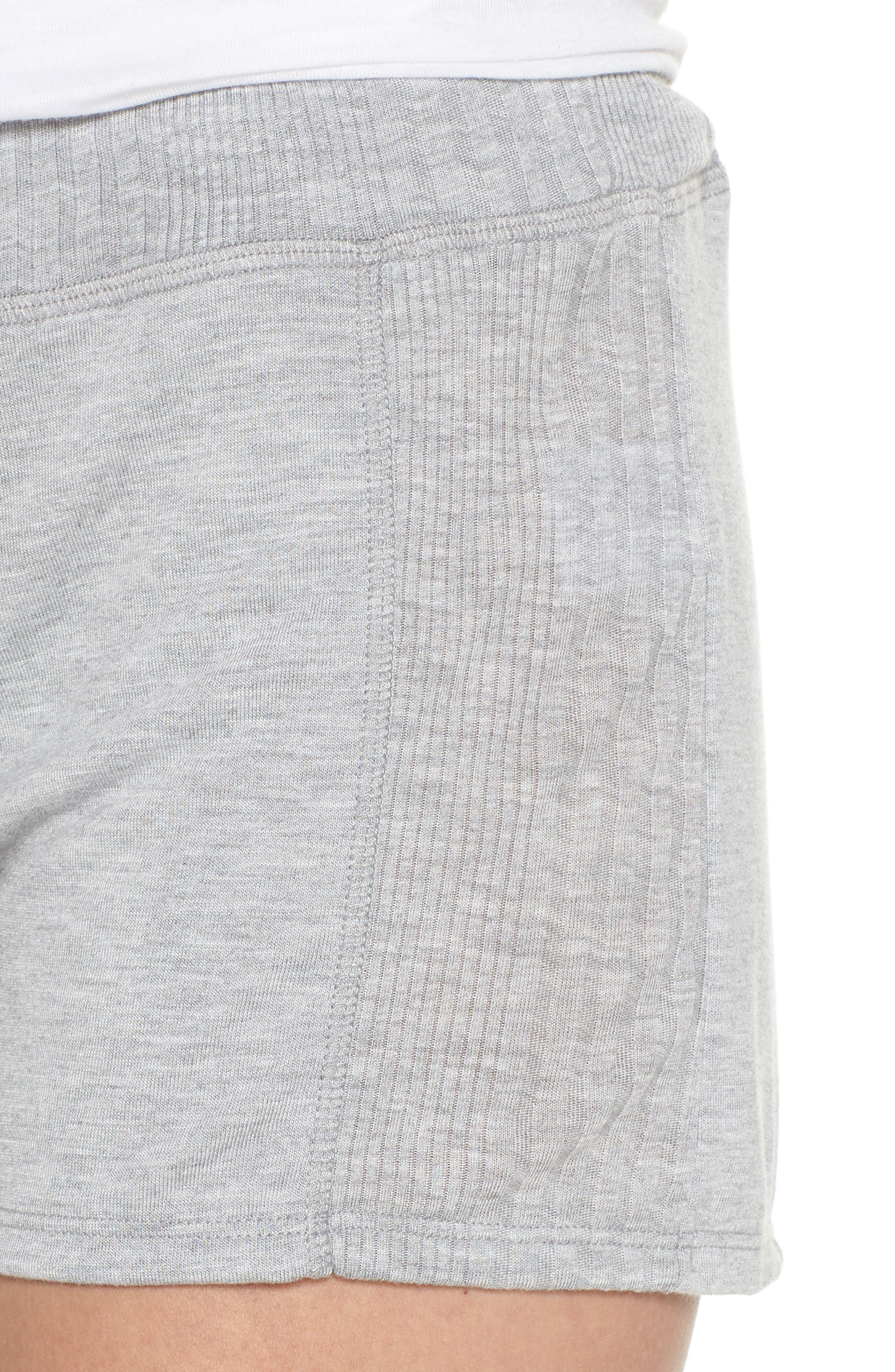 Pajama Shorts,                             Alternate thumbnail 4, color,                             LIGHT HEATHER GREY