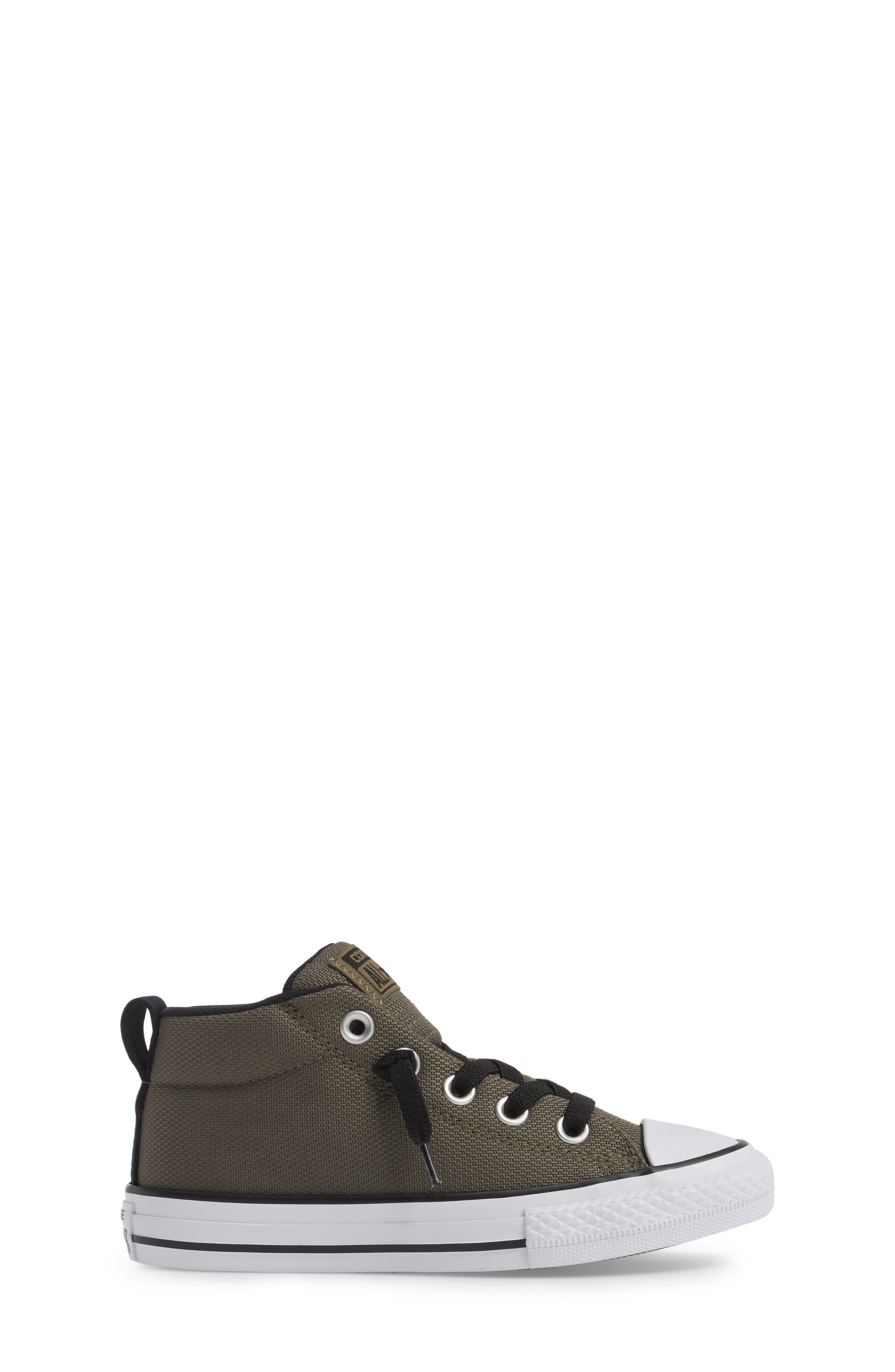 Chuck Taylor<sup>®</sup> All Star<sup>®</sup> Basket Weave Street Mid Sneaker,                             Alternate thumbnail 3, color,                             342