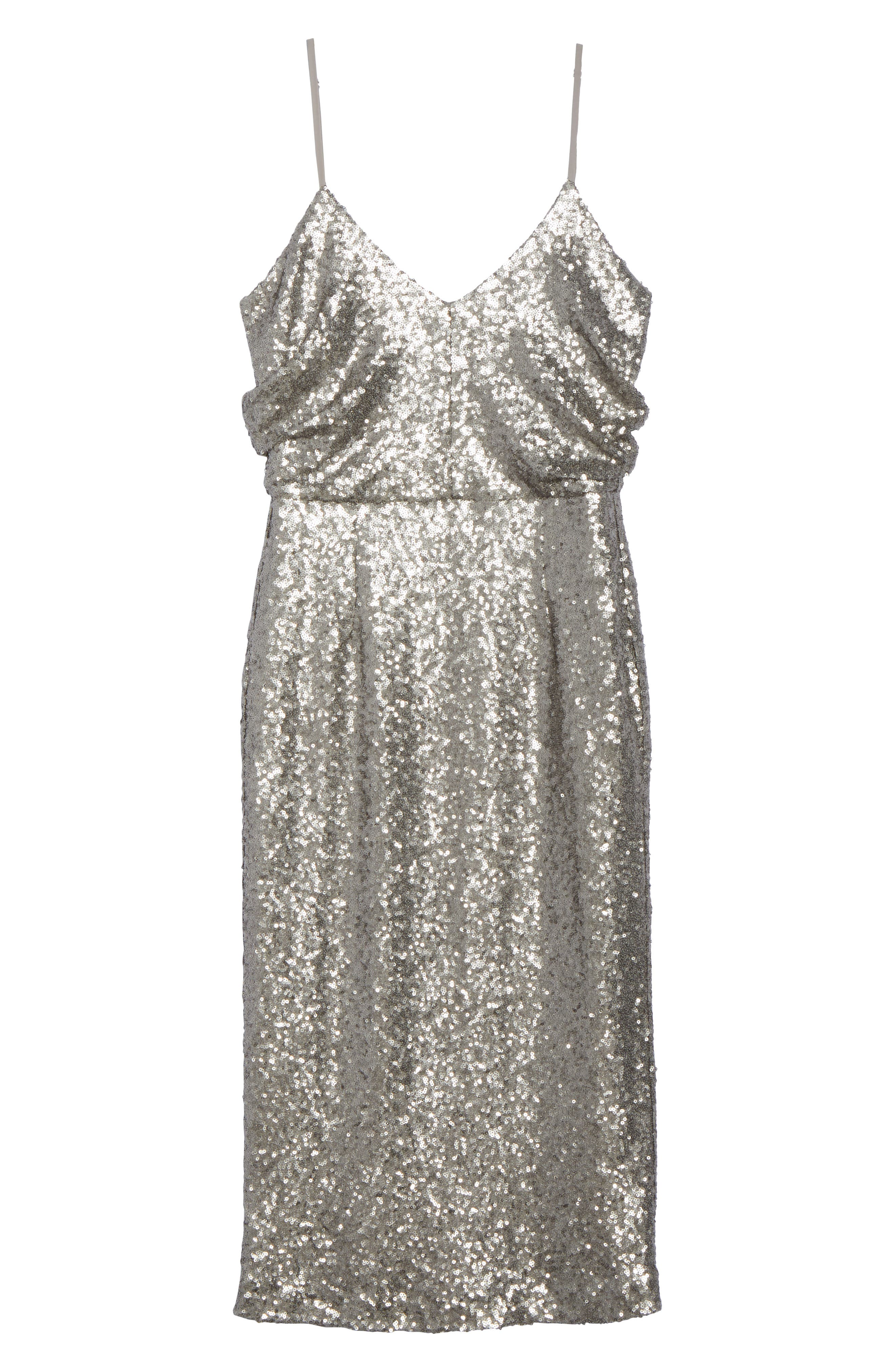 Midnight Lucky Sequin Dress,                             Alternate thumbnail 6, color,