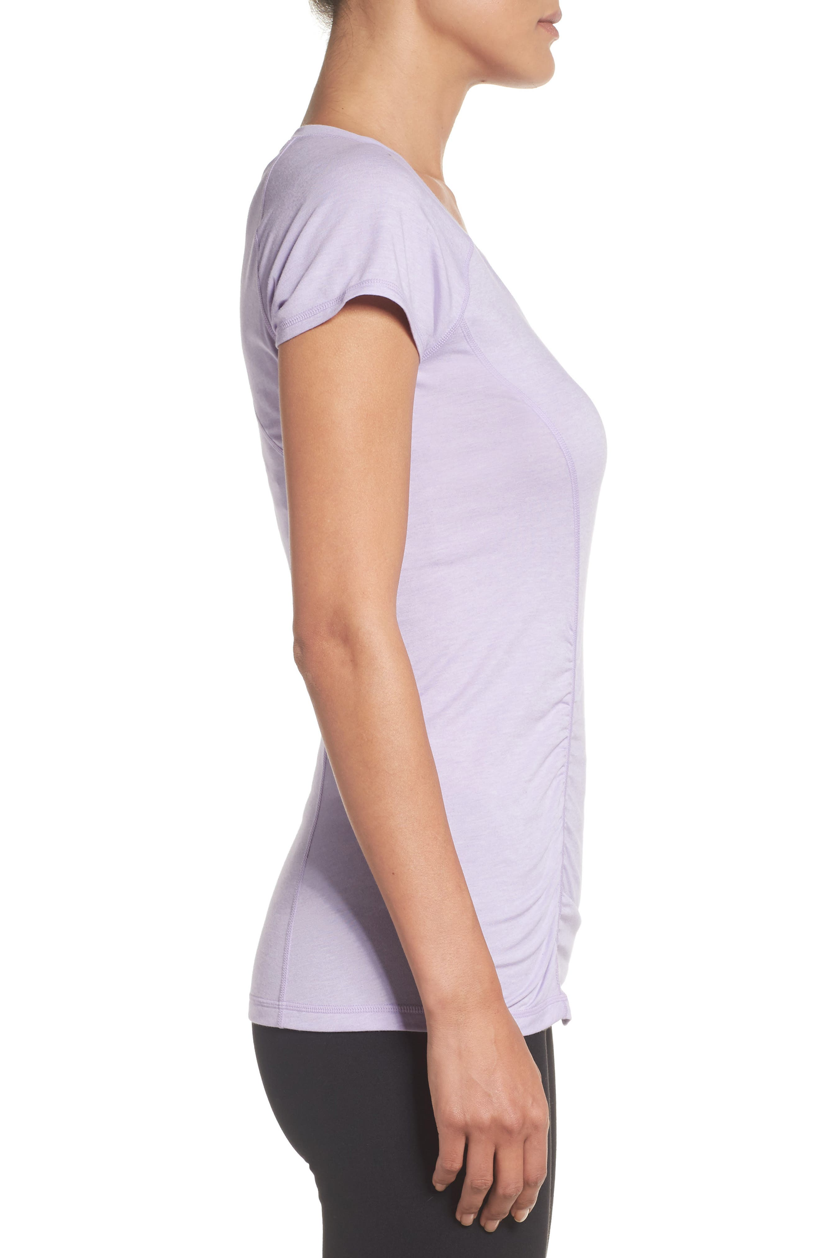 'Z 6' Ruched Tee,                             Alternate thumbnail 46, color,