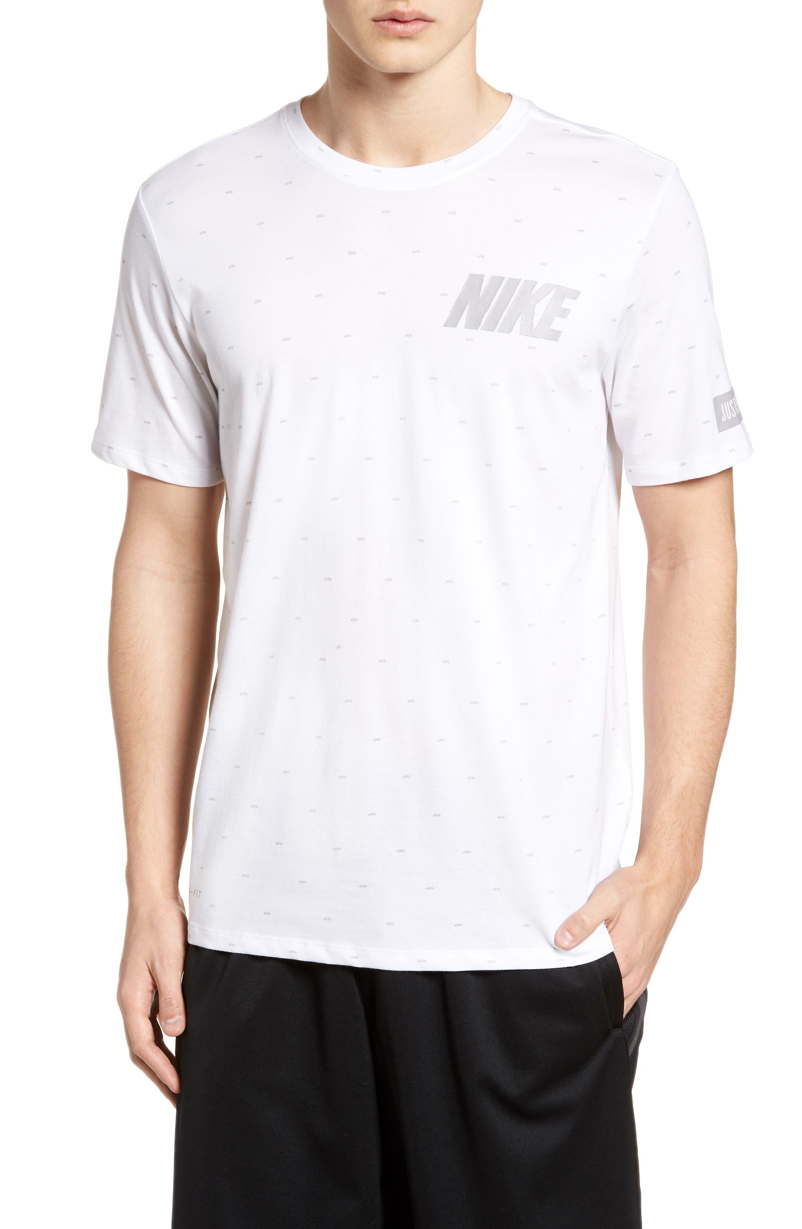 Nike Dry Print T-Shirt White