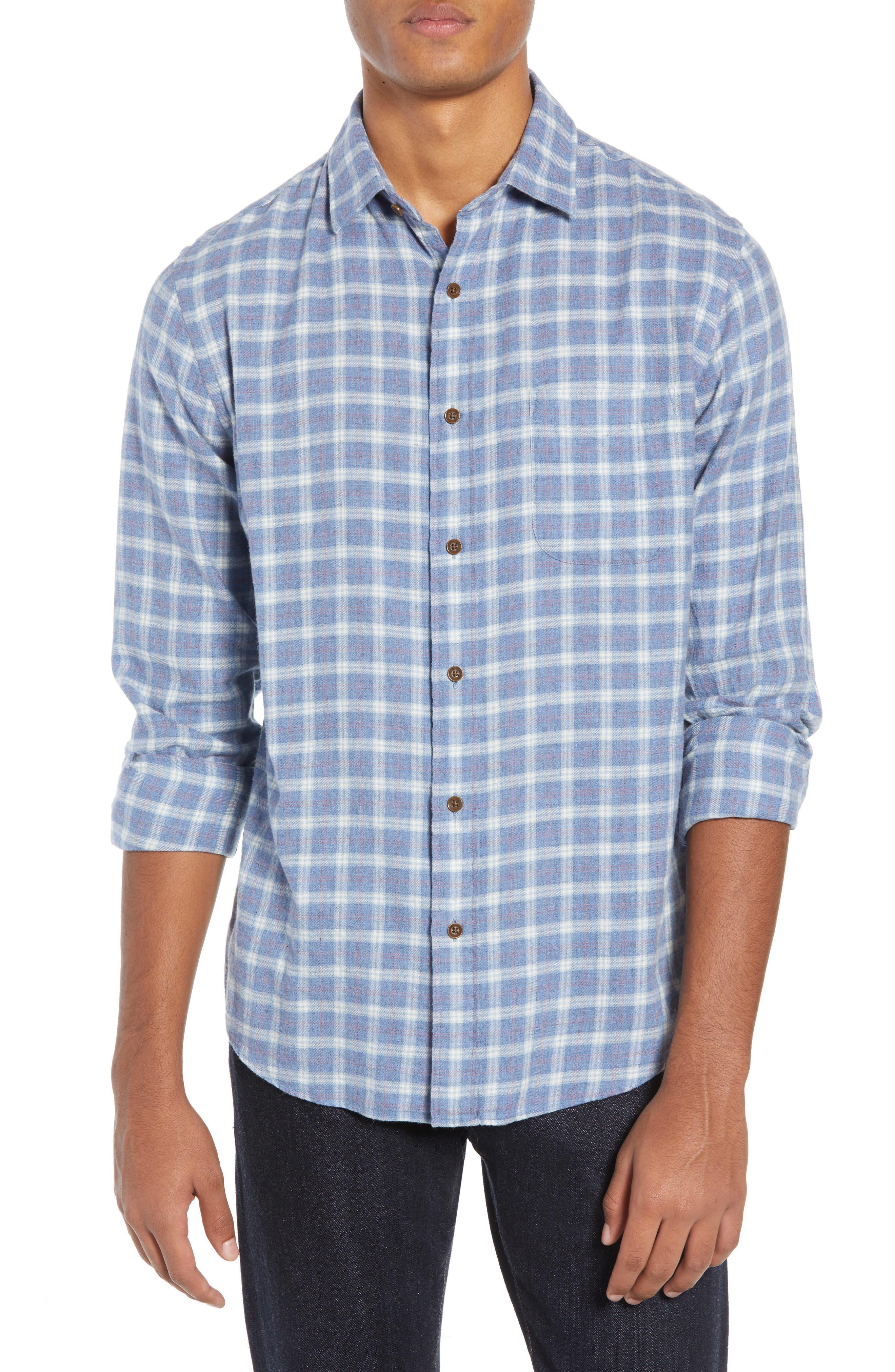Ventura Oxford Sport Shirt,                             Main thumbnail 1, color,                             HEATHER BLUE CHECK