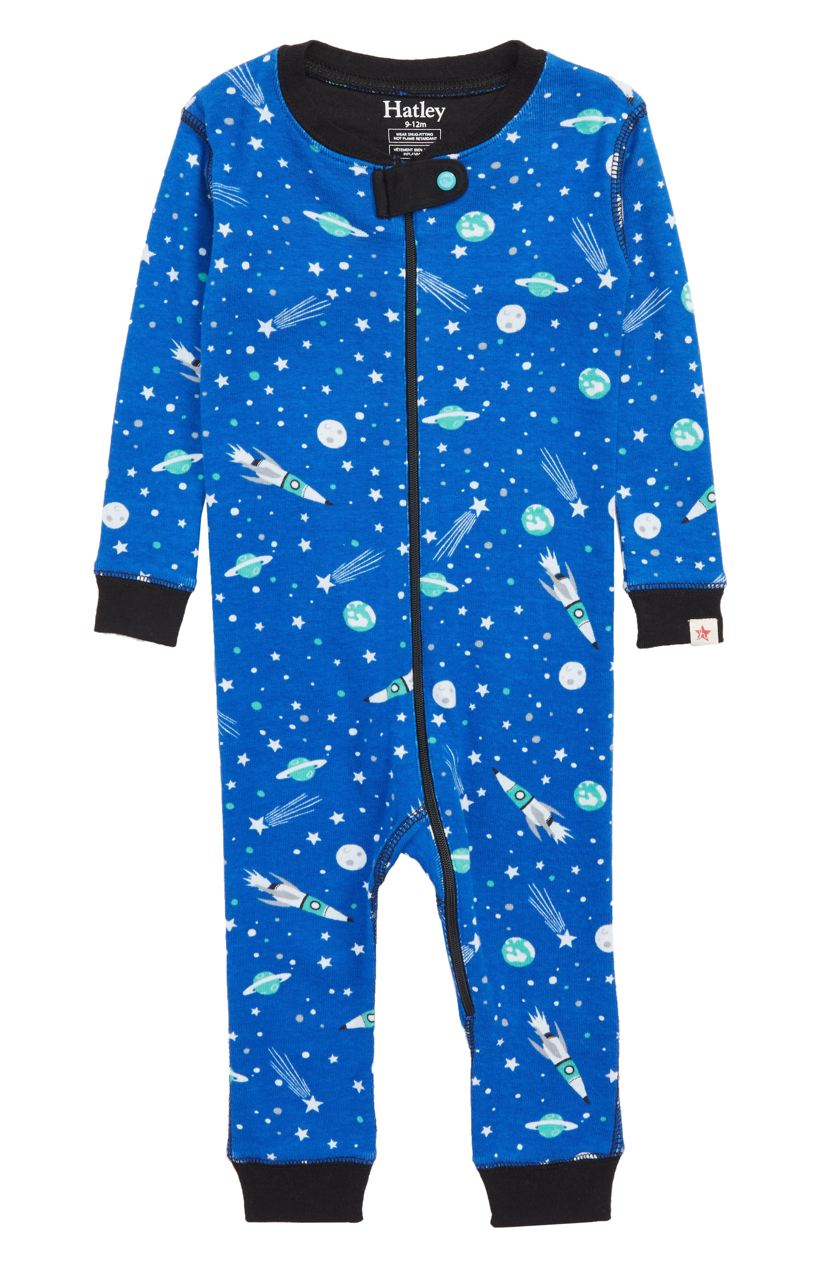 HATLEY,                             Organic Cotton Fitted One-Piece Pajamas,                             Main thumbnail 1, color,                             400