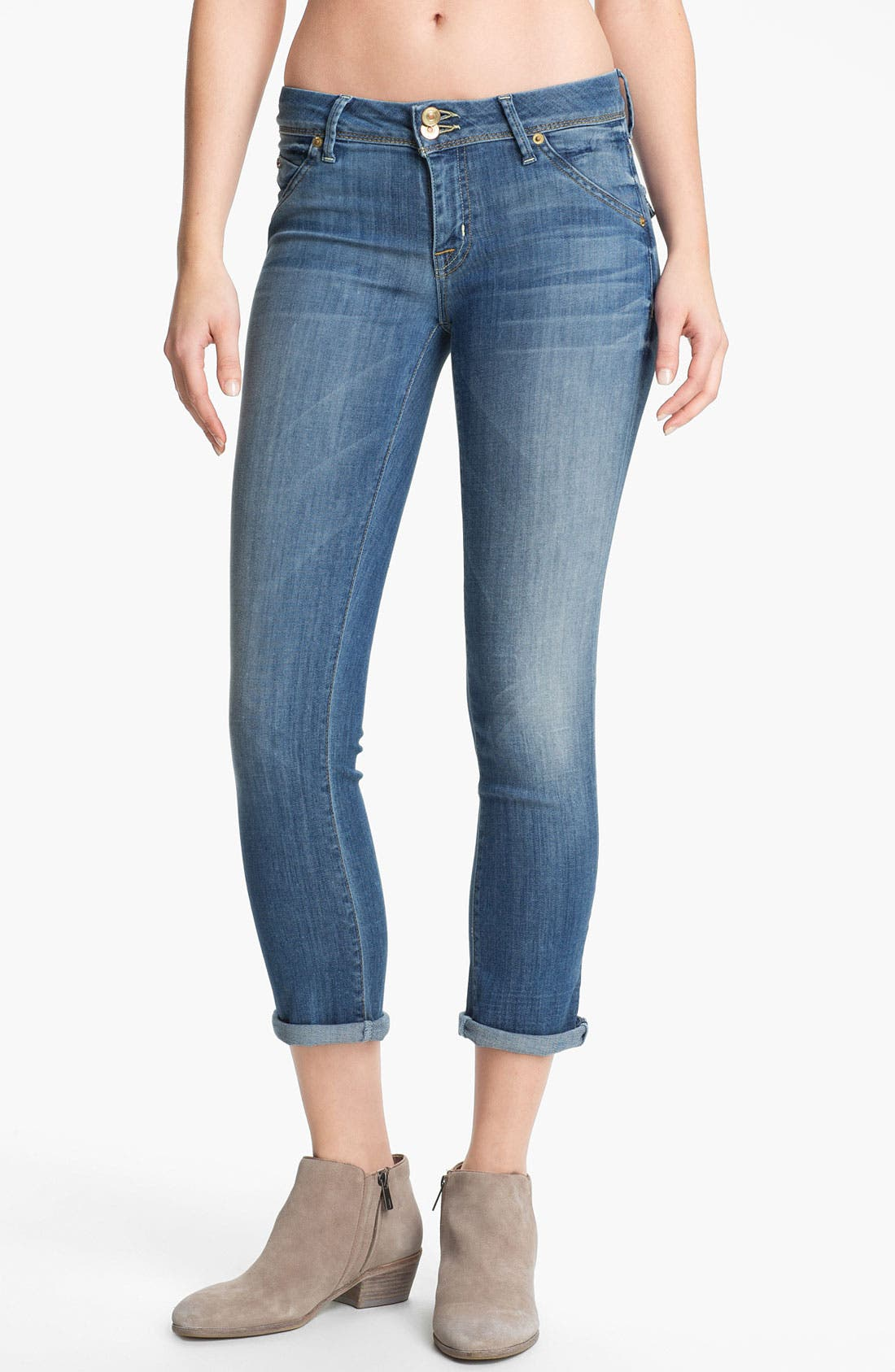 'Baby Boot' Crop Jeans,                             Main thumbnail 1, color,                             450
