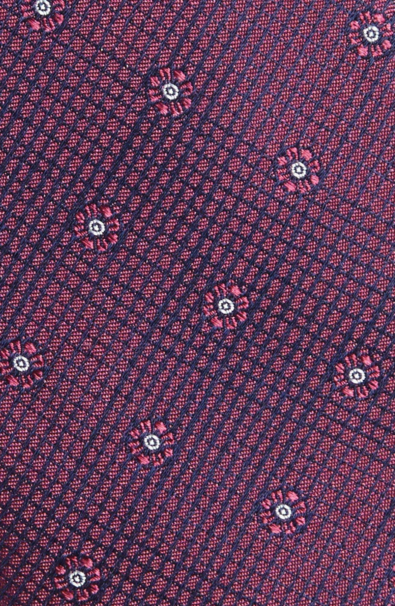 Fleur Medallion Silk Skinny Tie,                             Alternate thumbnail 12, color,