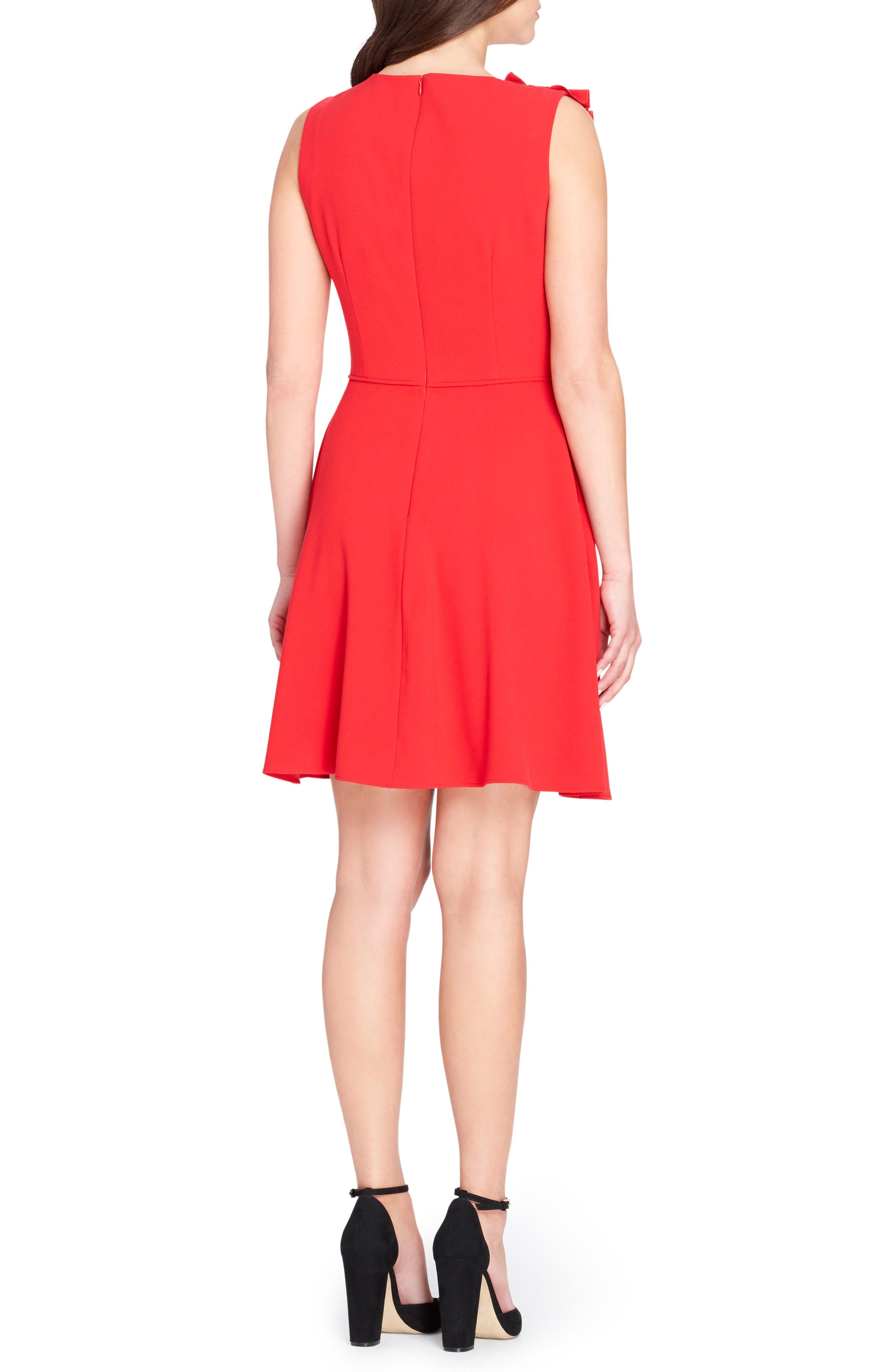Bow Fit & Flare Dress,                             Alternate thumbnail 2, color,                             620
