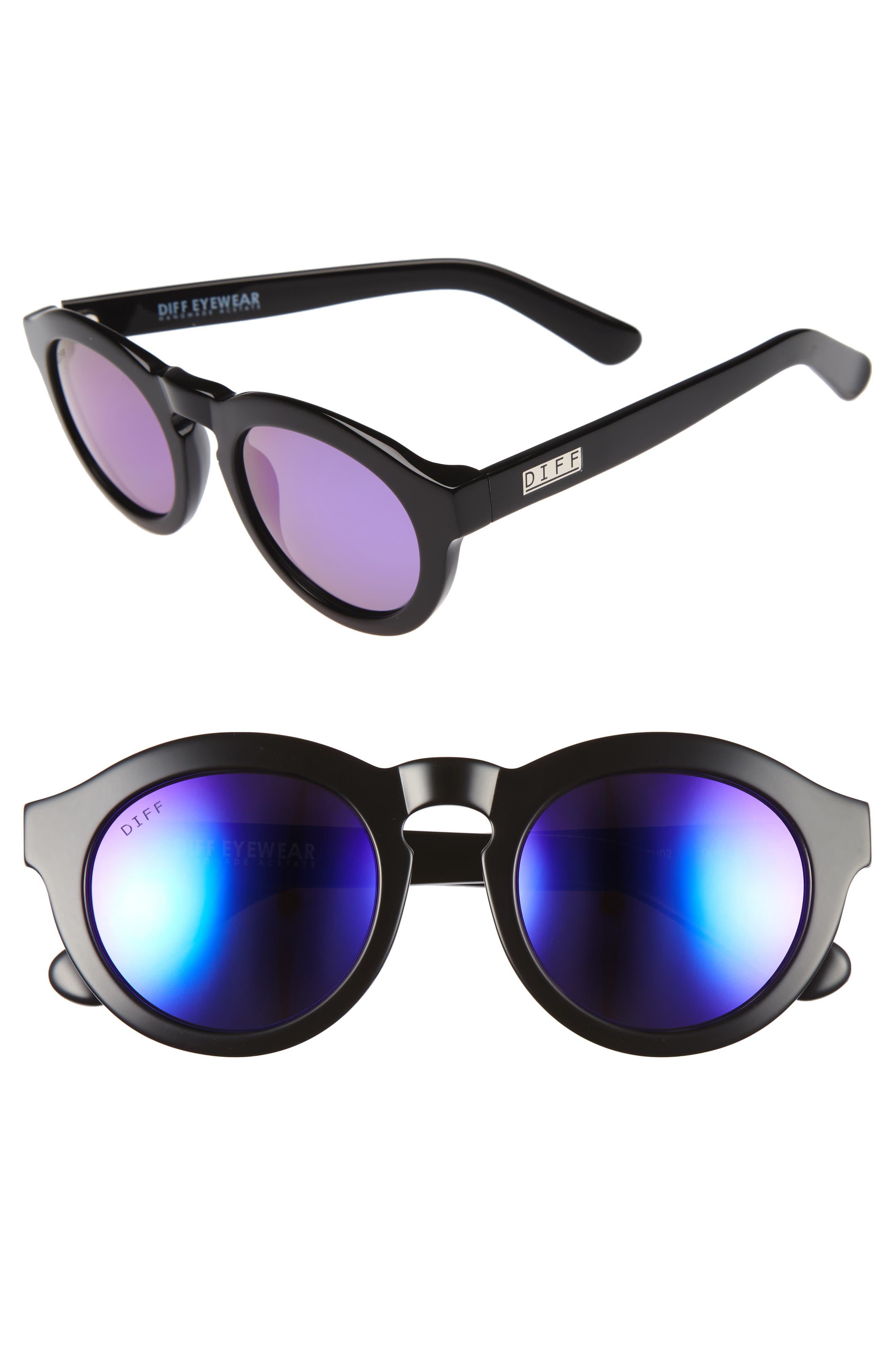 Dime 48mm Retro Sunglasses,                             Alternate thumbnail 21, color,