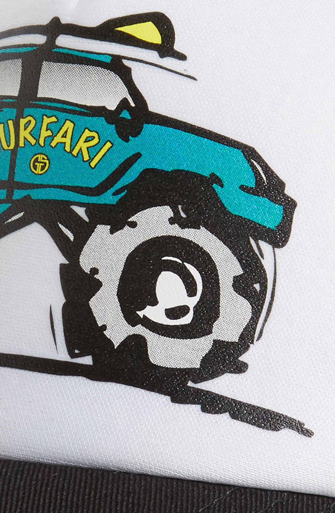 Surfari Trucker Hat,                             Alternate thumbnail 3, color,                             BLACK/ WHITE