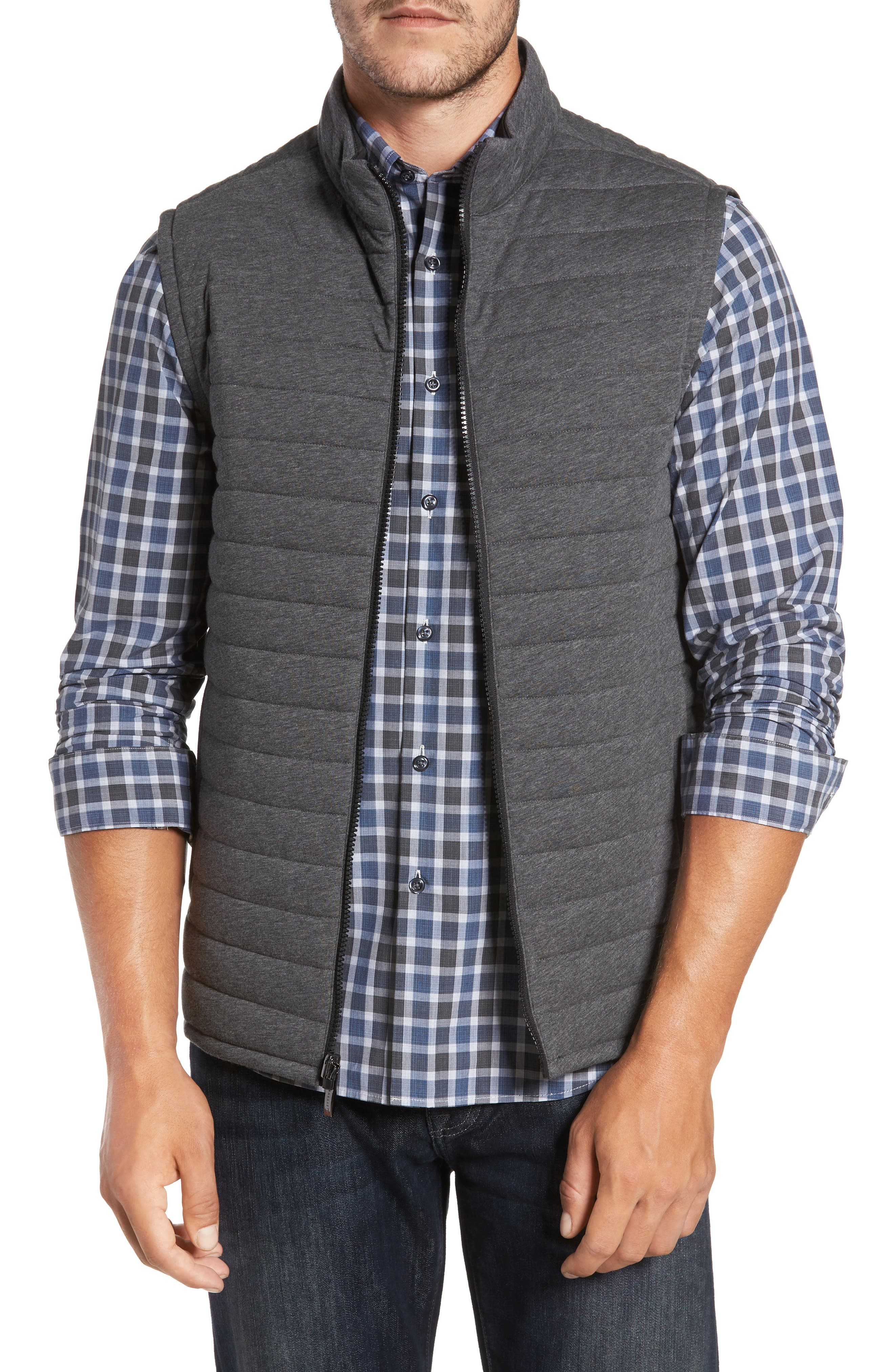 Gallagher Reversible Vest,                             Main thumbnail 1, color,                             CHARCOAL