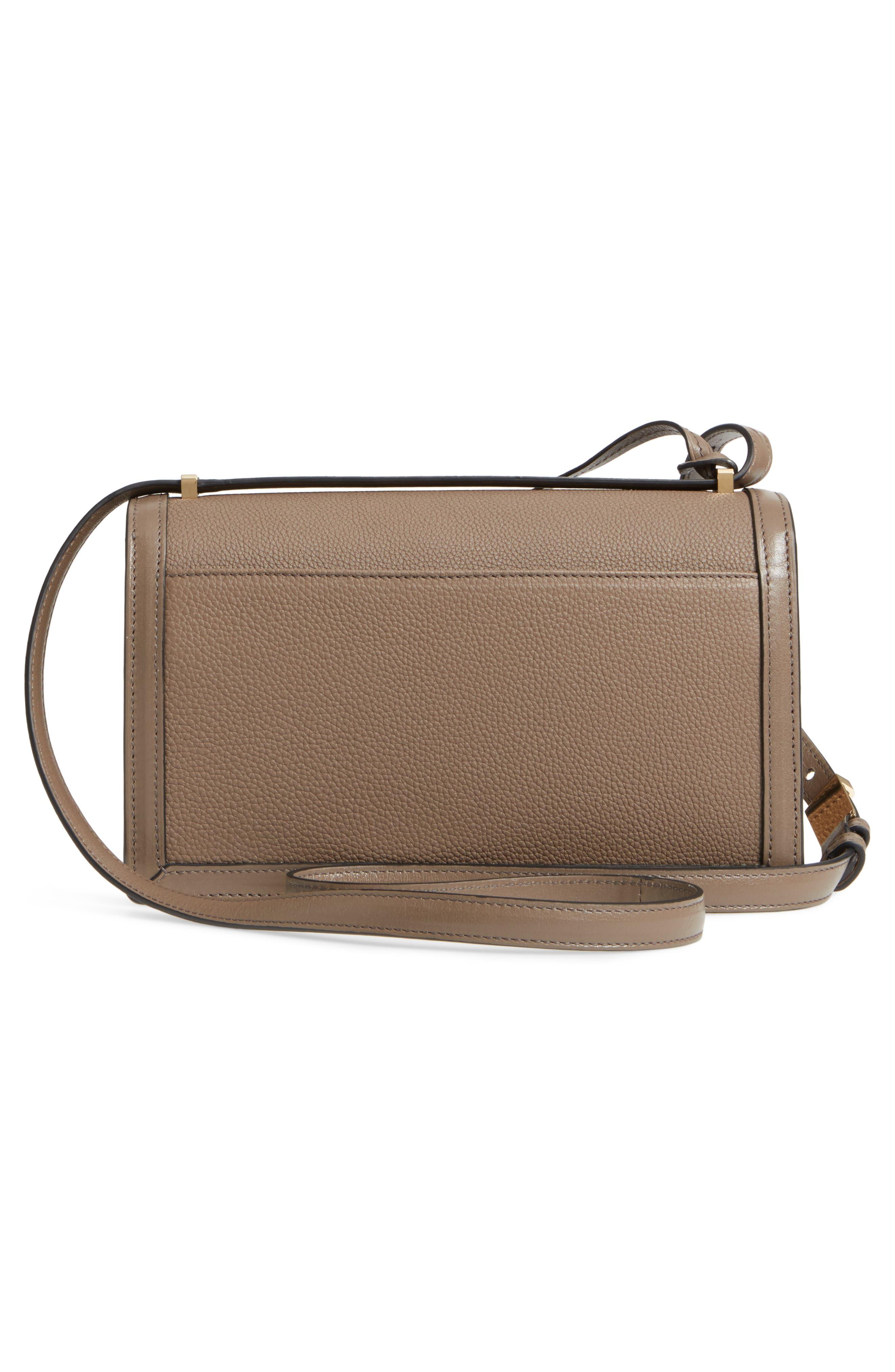 Medium Barcelona Leather Crossbody Bag,                             Alternate thumbnail 3, color,