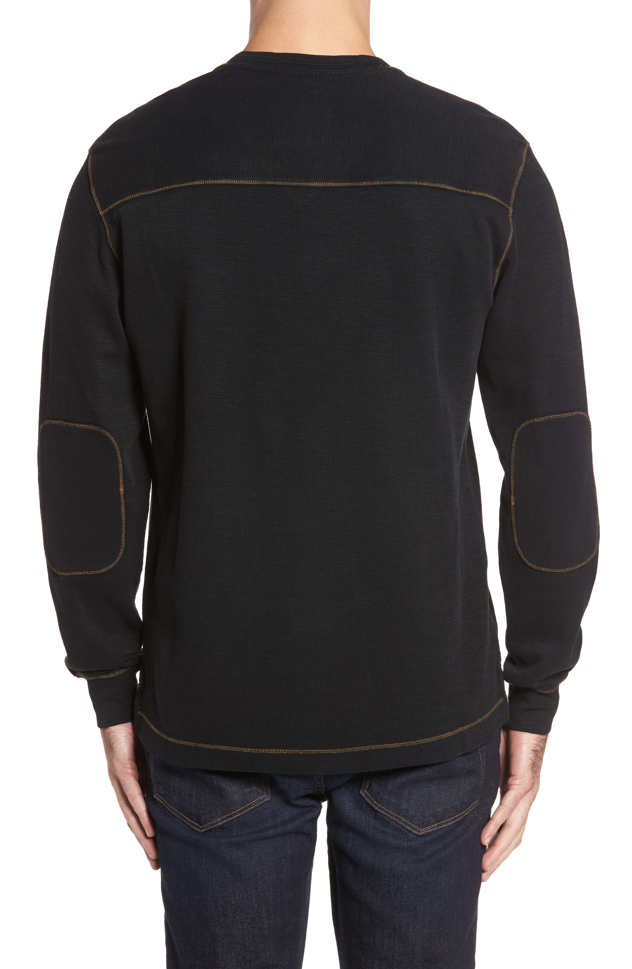 Anthony Slubbed Long Sleeve V-Neck T-Shirt,                             Alternate thumbnail 2, color,                             001