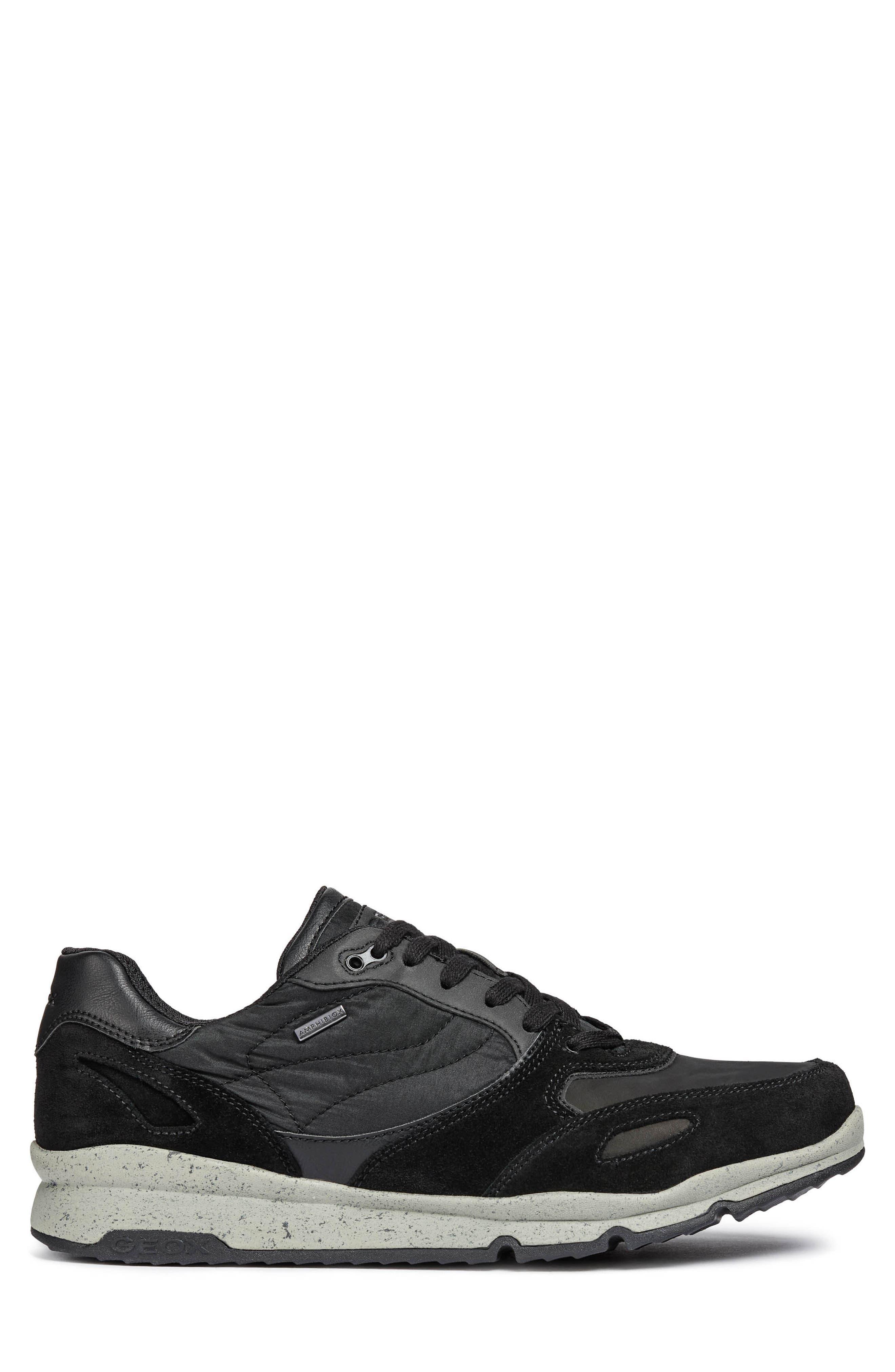 Sandro ABX Ambphibiox Waterproof Sneaker,                             Alternate thumbnail 3, color,                             007