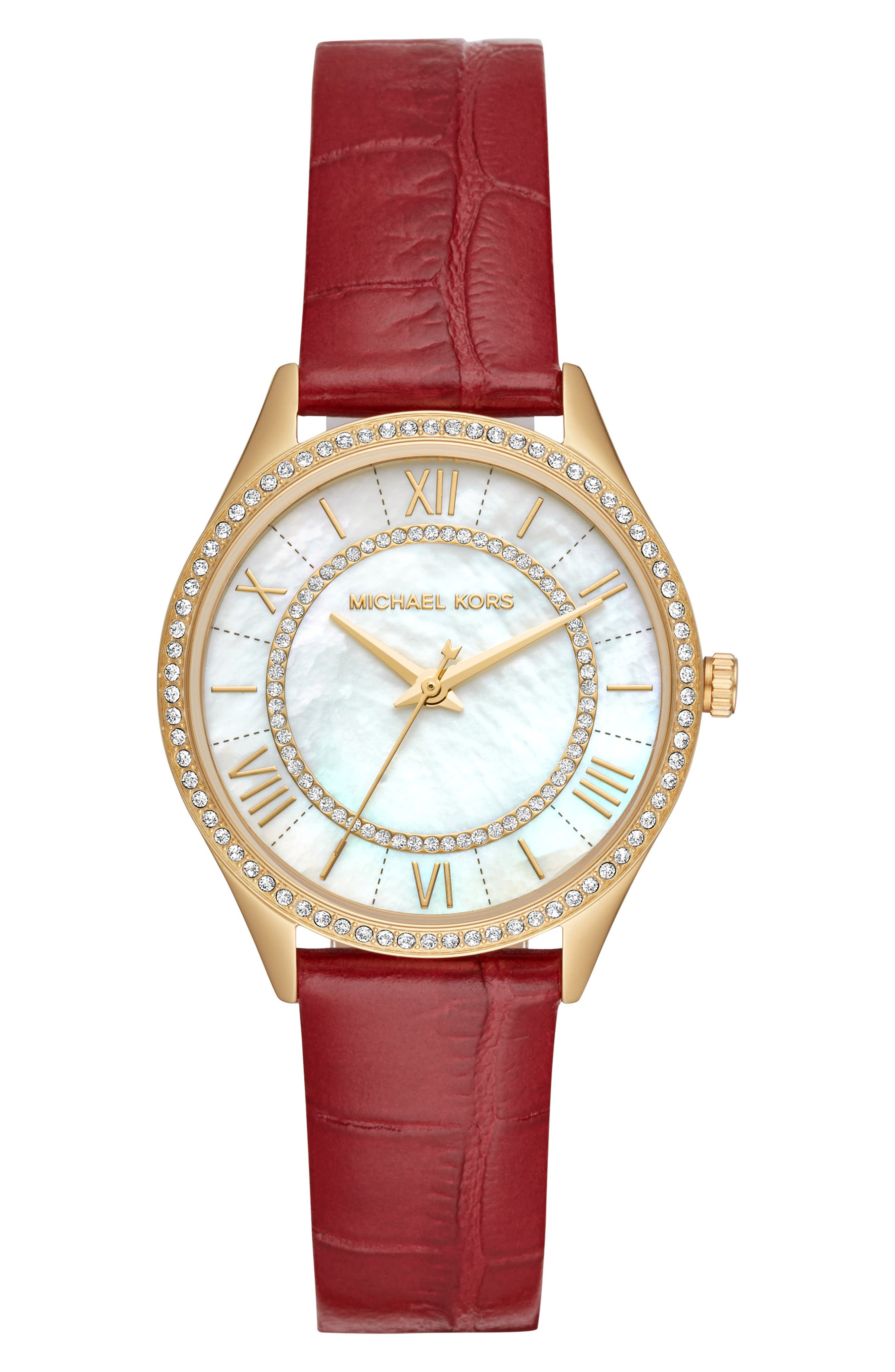 Lauryn Leather Strap Watch, 33mm,                             Main thumbnail 2, color,