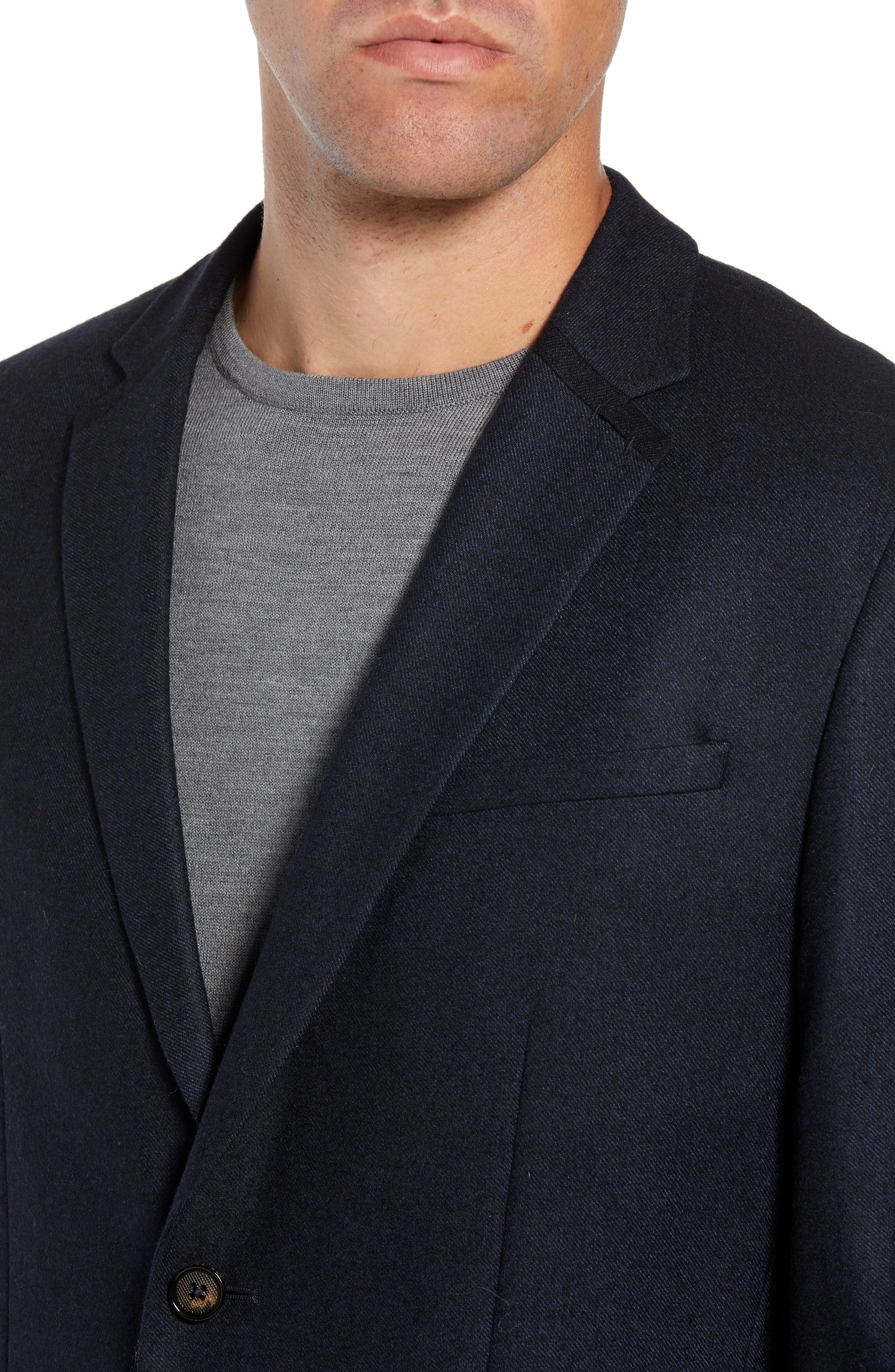Matza Wool Blend Sport Coat,                             Alternate thumbnail 4, color,                             NAVY