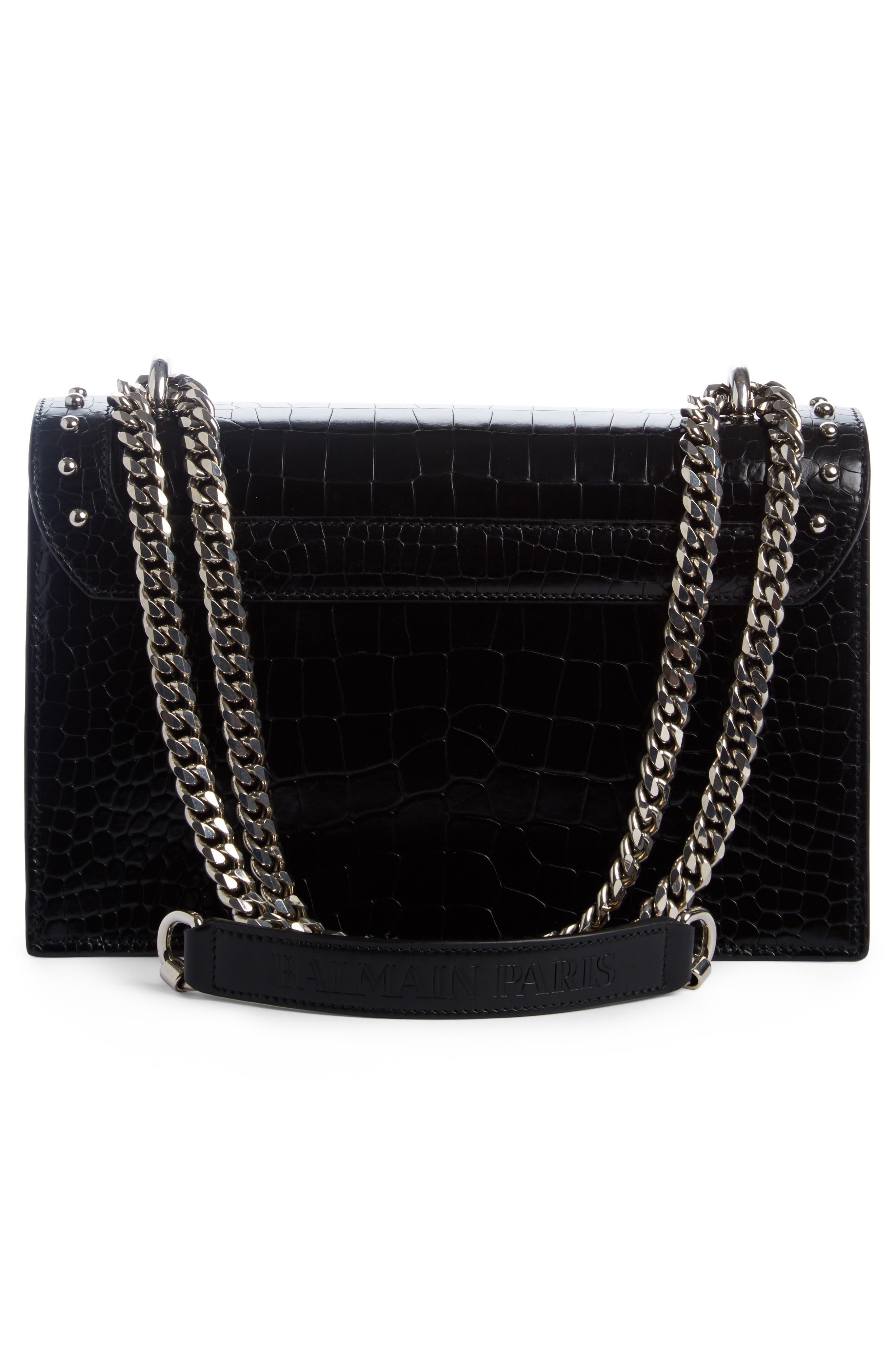 Stud Leather Box Shoulder Bag,                             Alternate thumbnail 2, color,                             001