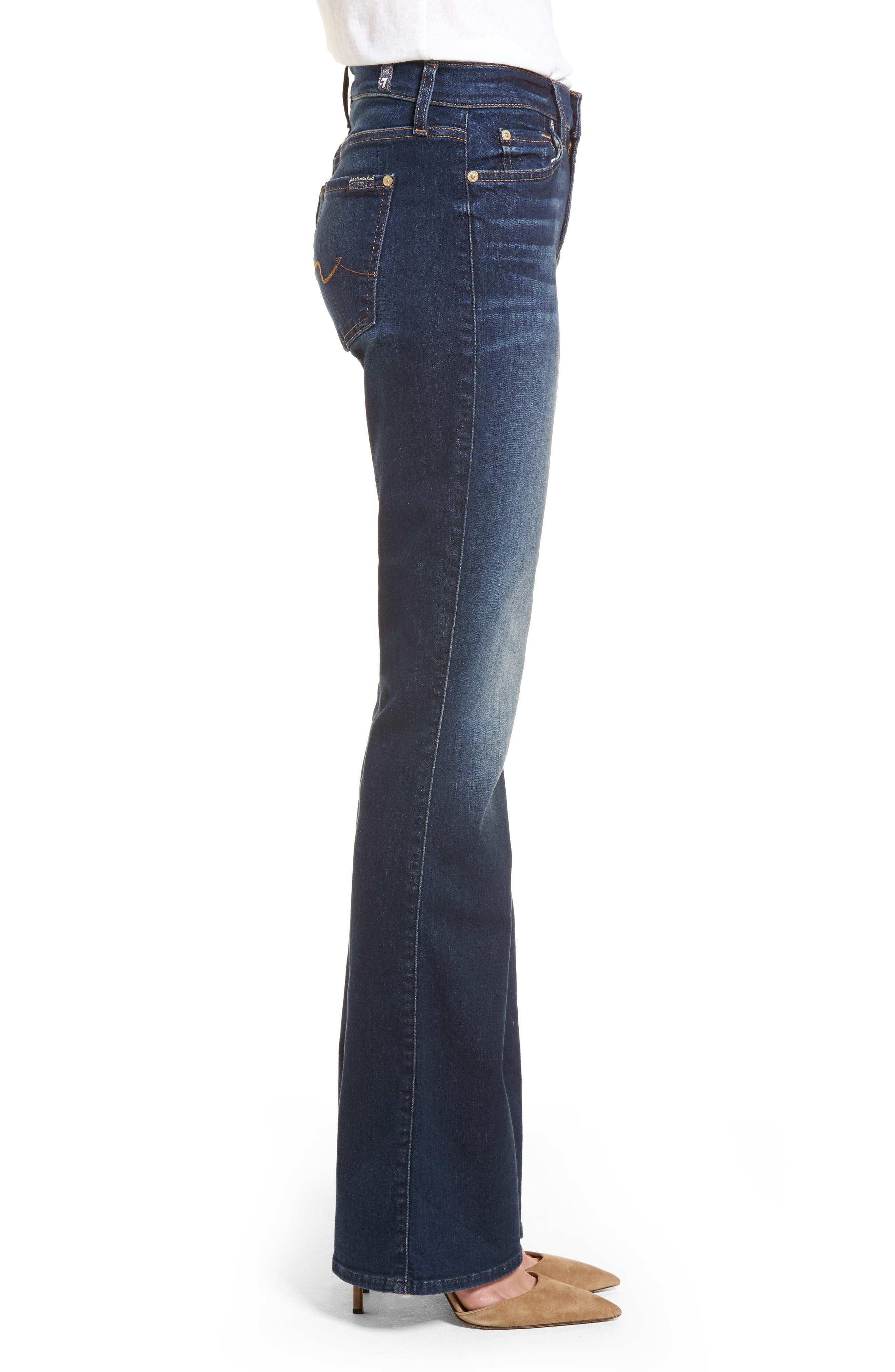 b(air) Iconic Bootcut Jeans,                             Alternate thumbnail 3, color,                             MORENO