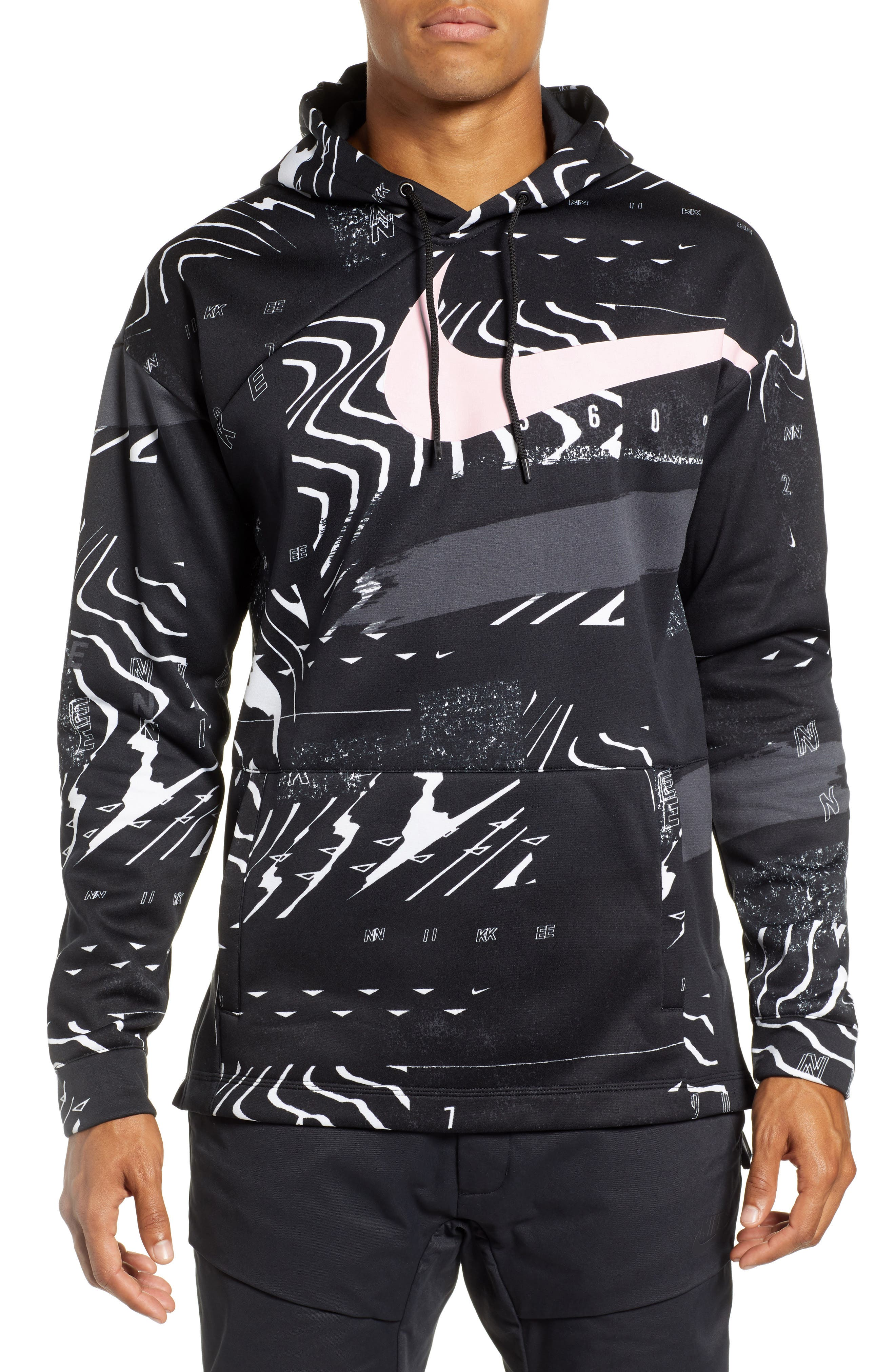 3.0 Therma-FIT Hoodie,                             Main thumbnail 1, color,                             BLACK/ WHITE/ PINK FOAM