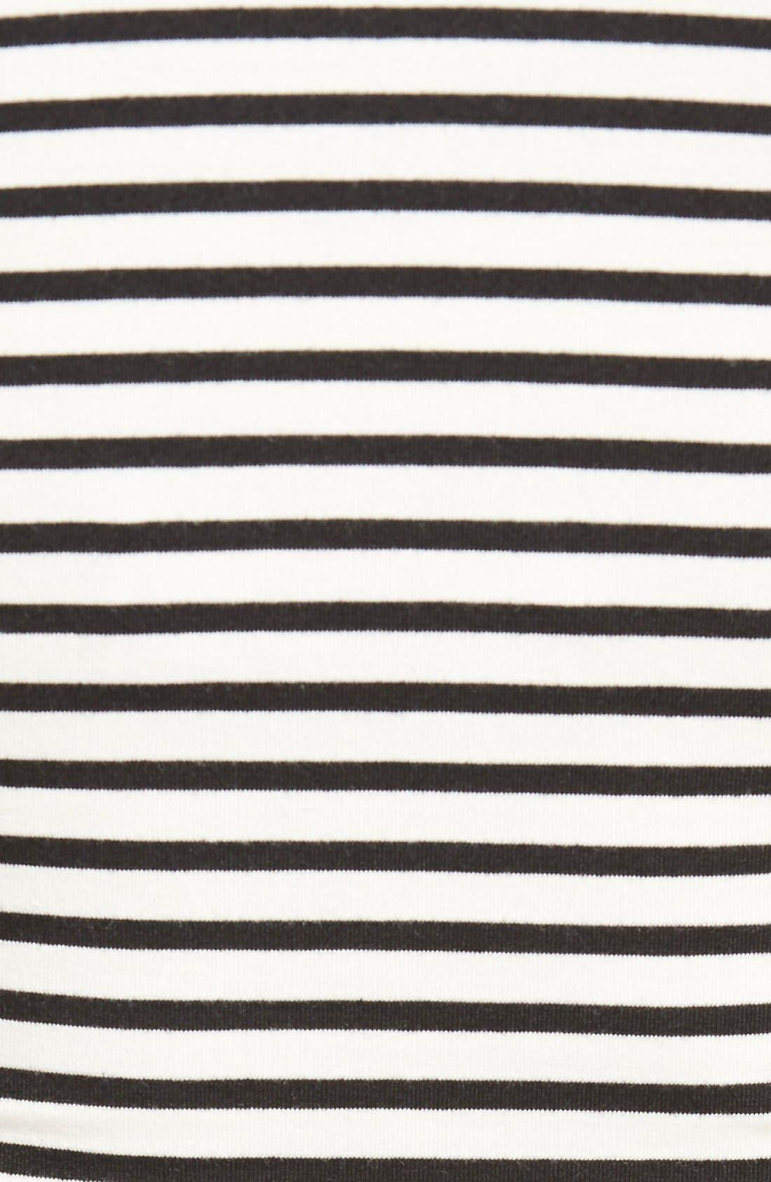 'Toni' Stripe Maternity/Nursing Top,                             Alternate thumbnail 5, color,                             BLACK STRIPE W/ CREAM