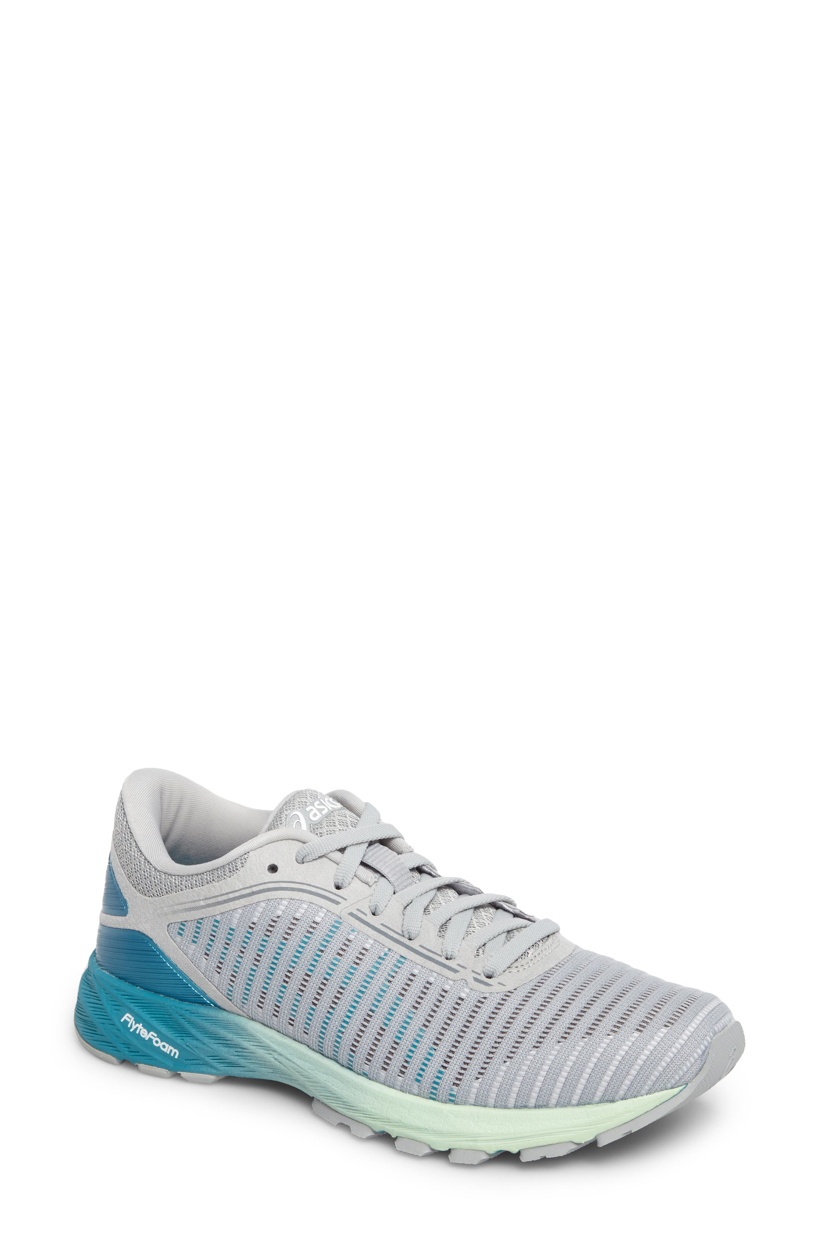 DynaFlyte 2 Running Shoe,                             Main thumbnail 1, color,                             MID GREY/ AQUA/ GLACIER