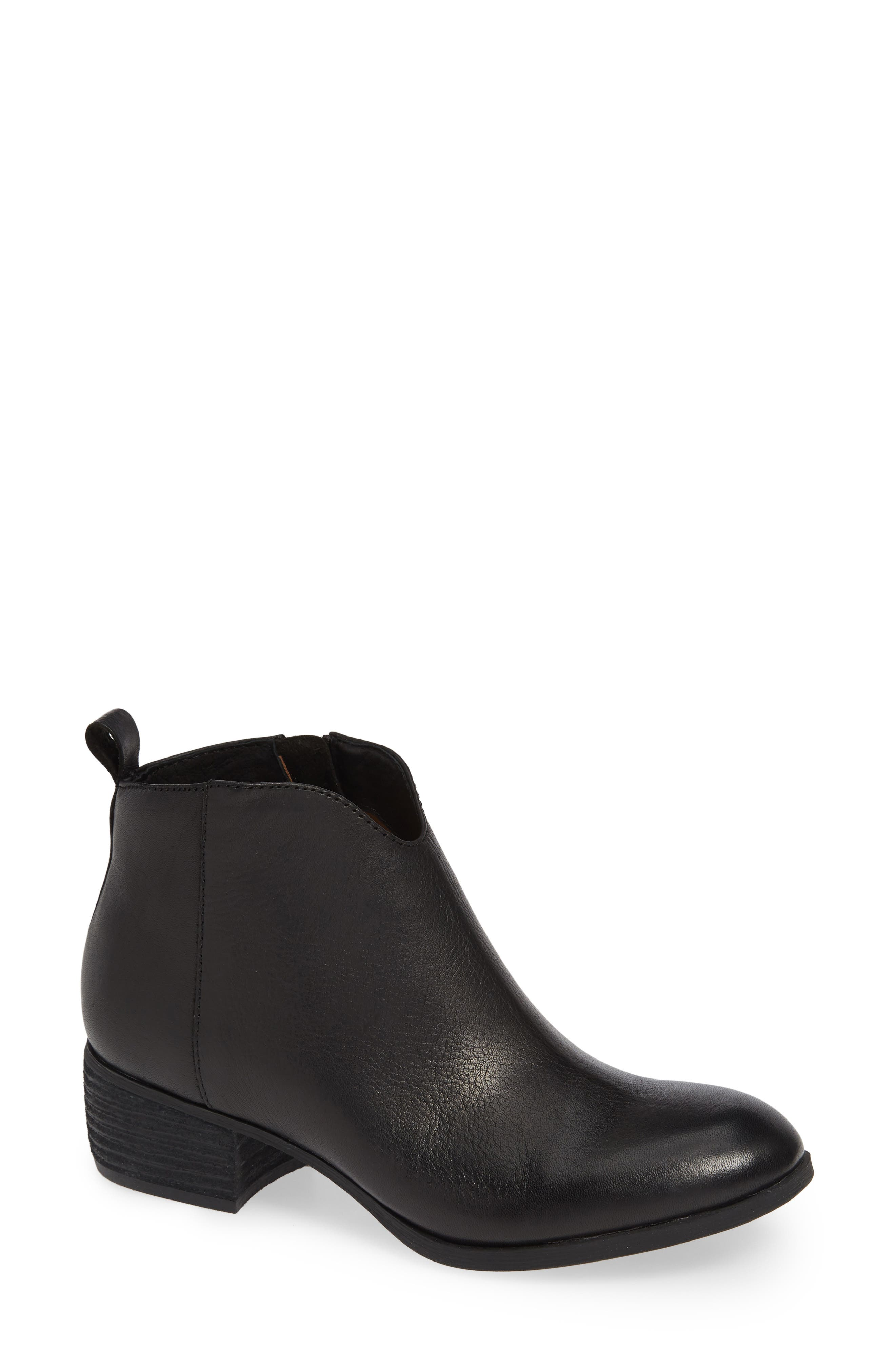 Coleta Bootie,                             Main thumbnail 1, color,                             BLACK LEATHER
