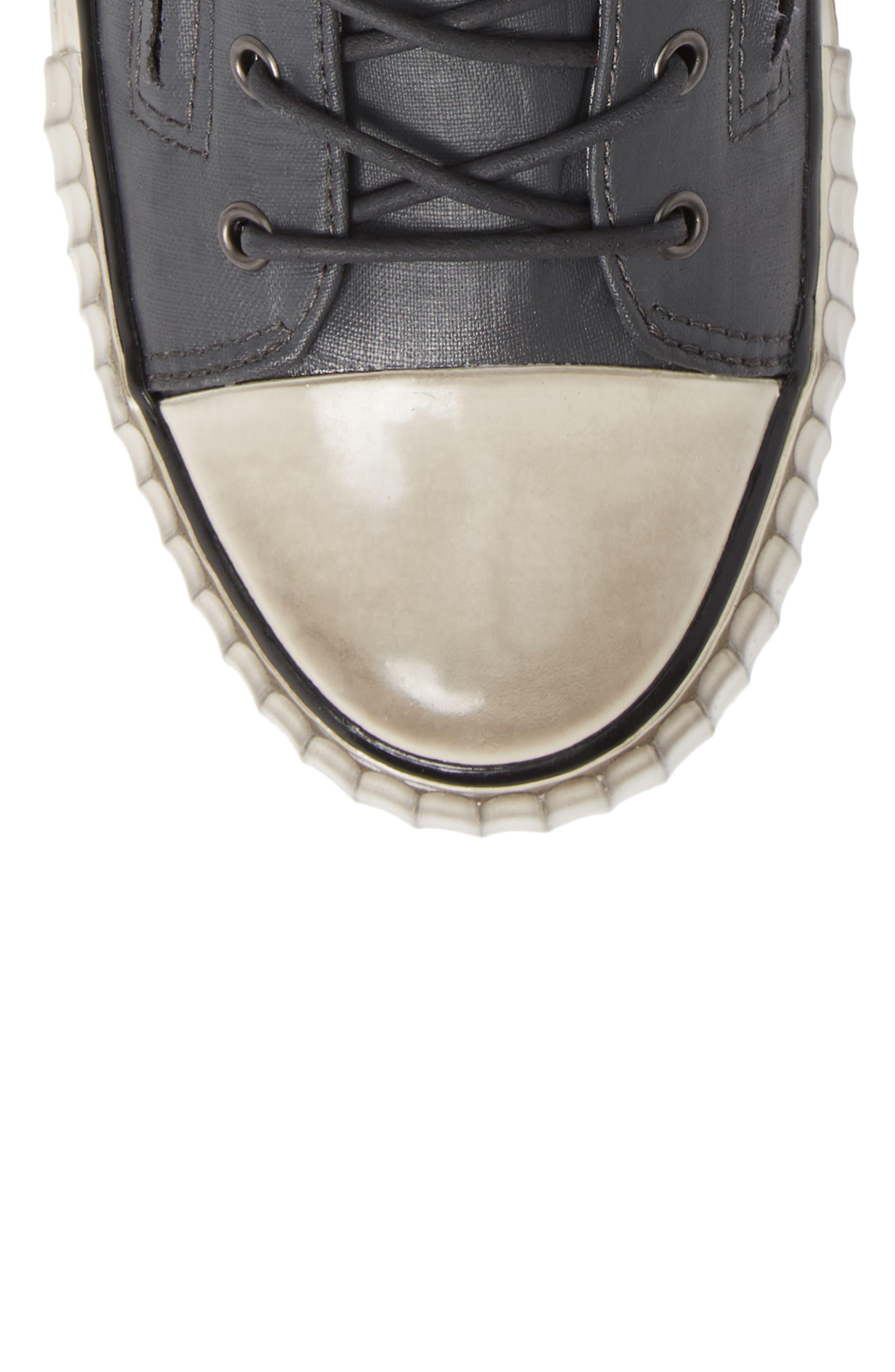 John Varvatos Star USA Bootleg Sneaker,                             Alternate thumbnail 5, color,                             GREY COATED LINEN
