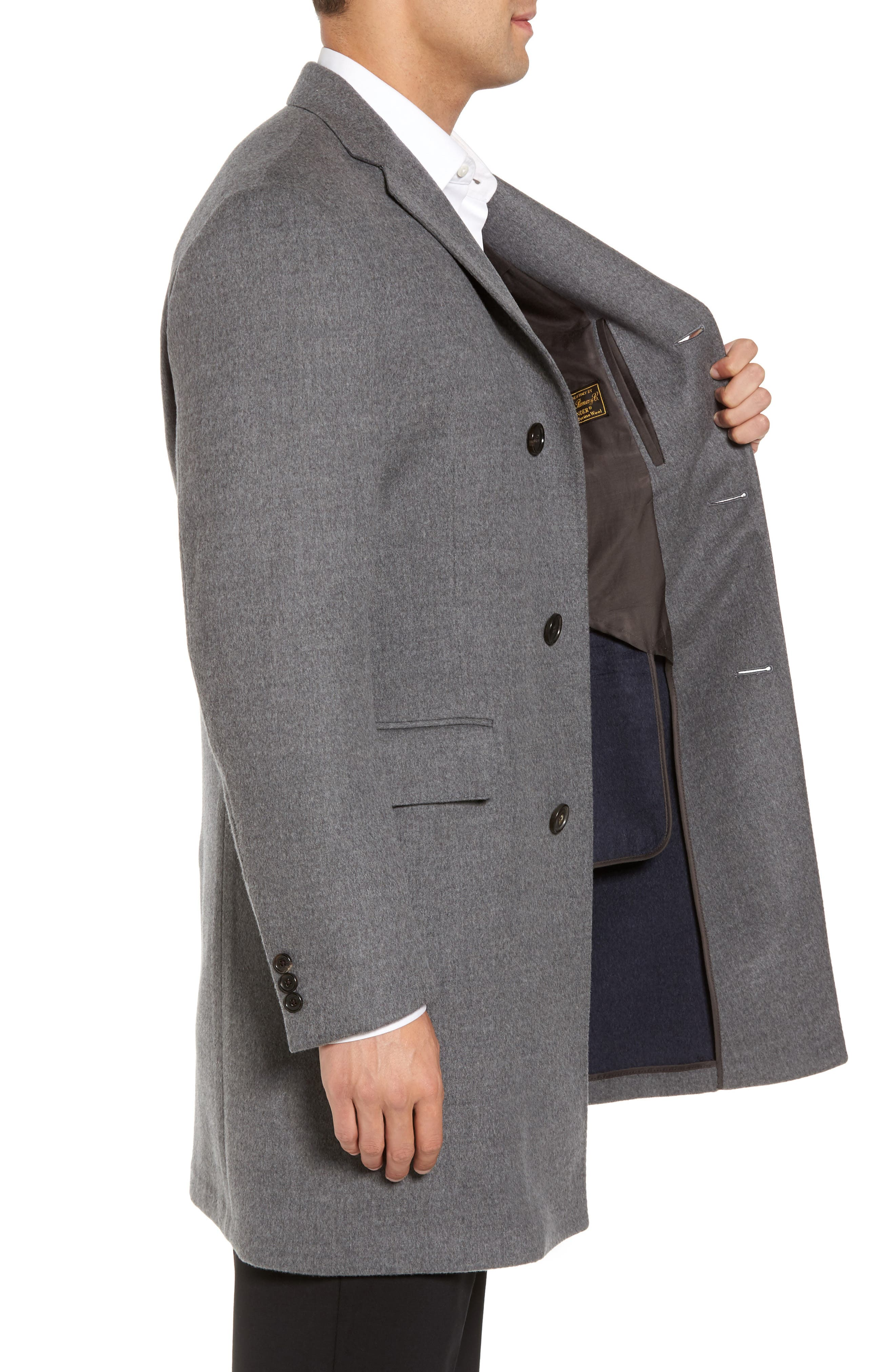 Classic Fit Wool Topcoat,                             Alternate thumbnail 3, color,                             020