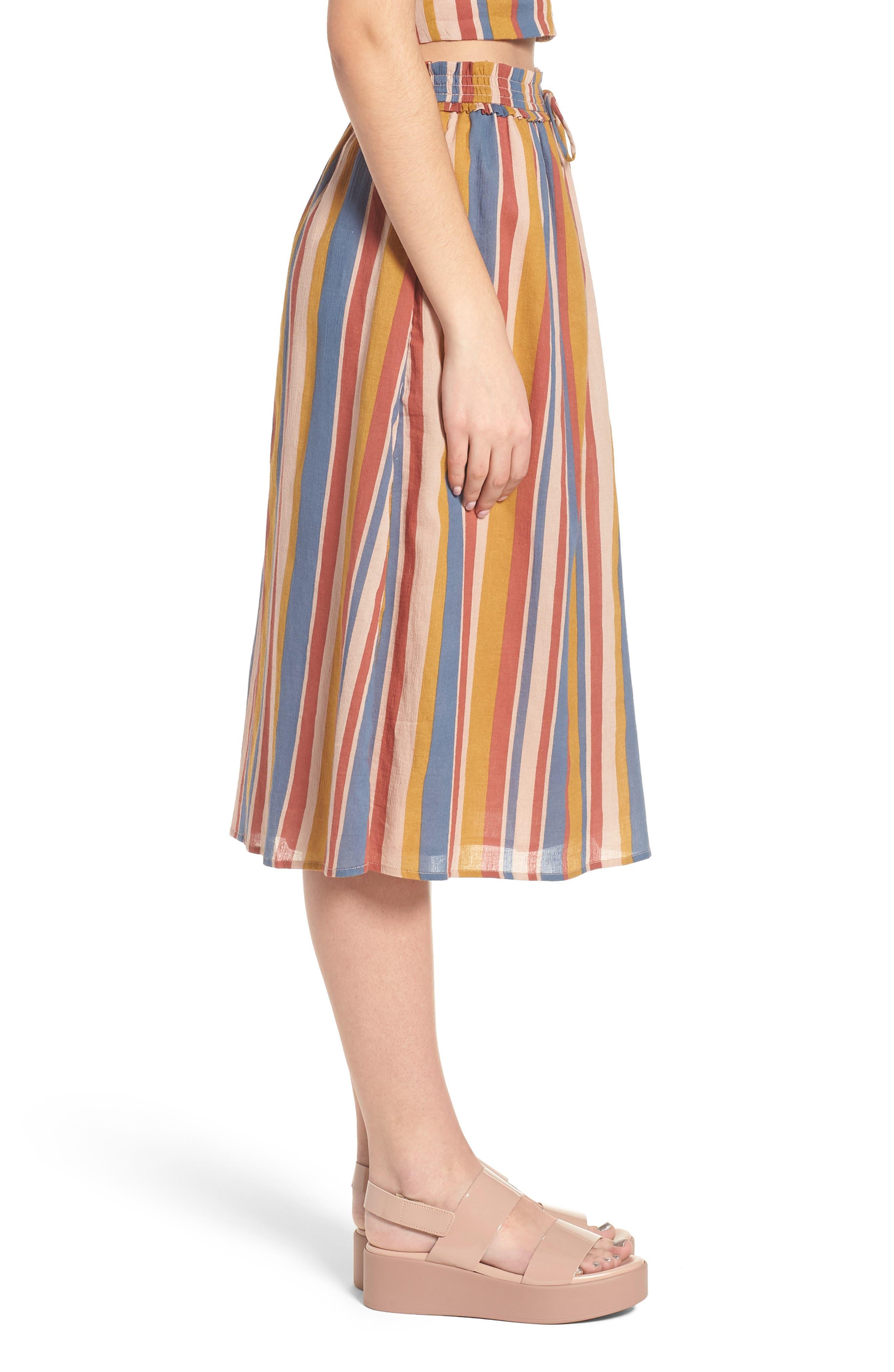 Smocked Midi Skirt,                             Alternate thumbnail 3, color,