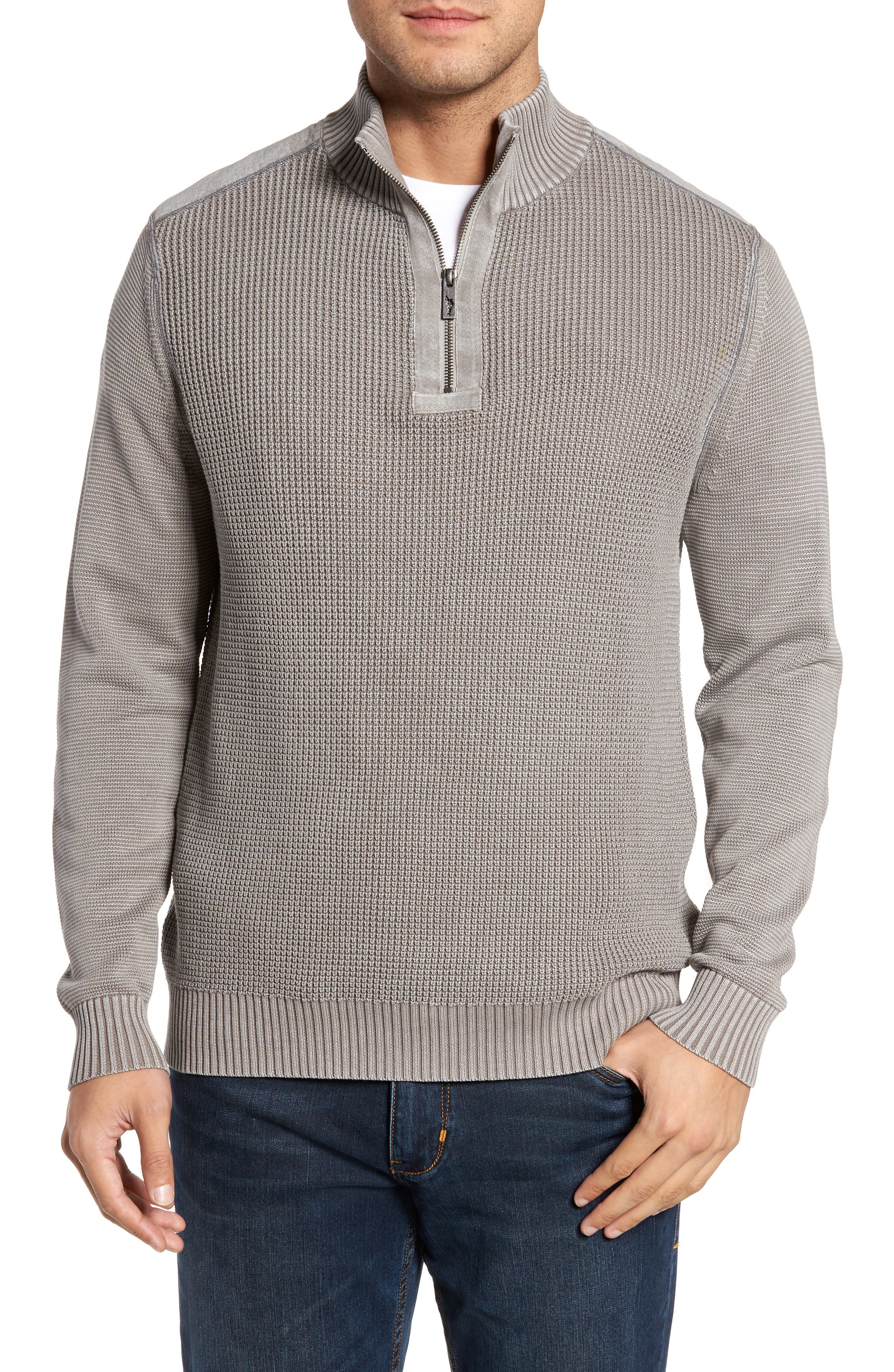 Coastal Shores Quarter Zip Sweater,                             Main thumbnail 2, color,