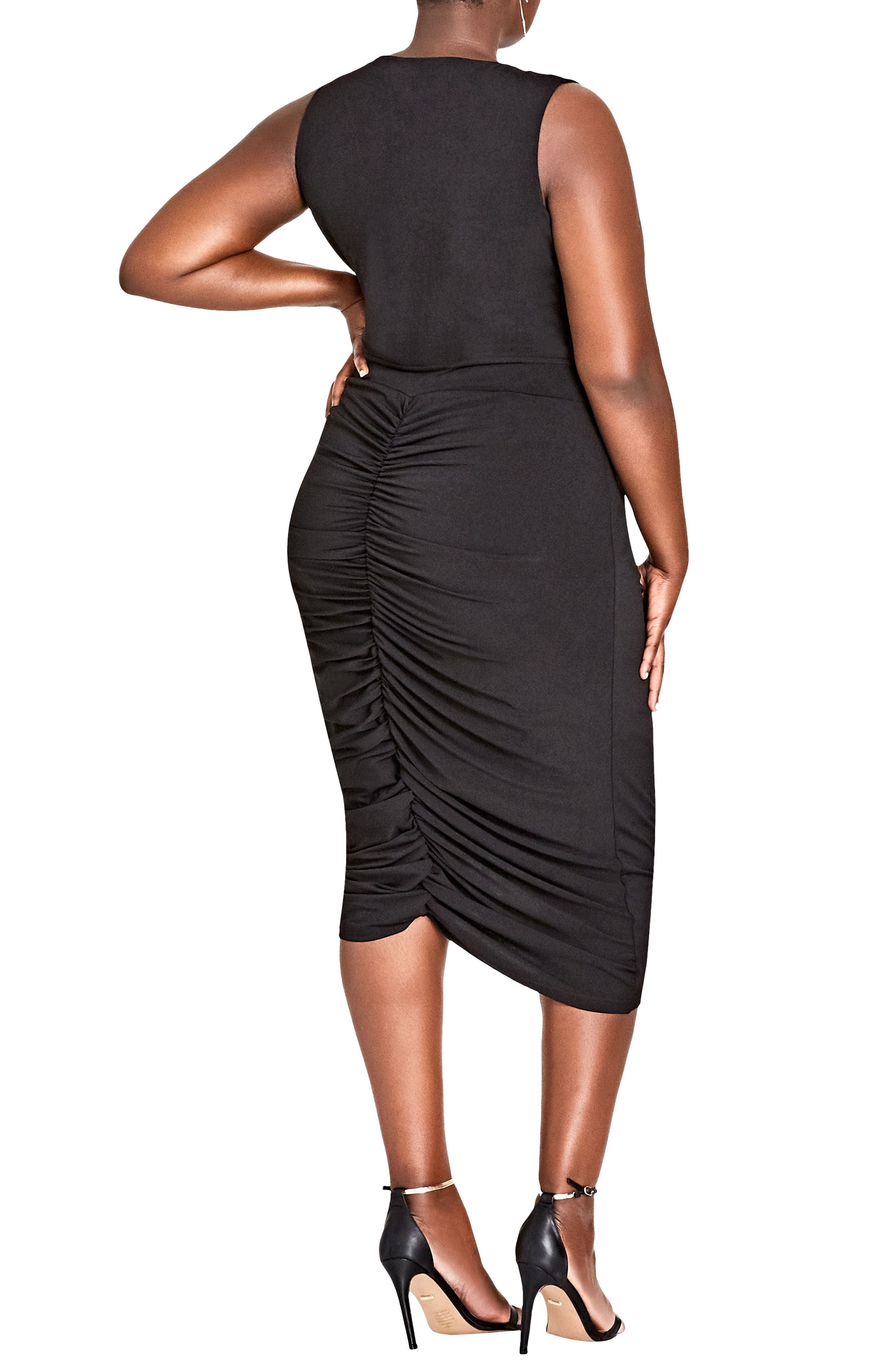 Sexy Curve Jersey Body-Con Dress,                             Alternate thumbnail 2, color,                             001