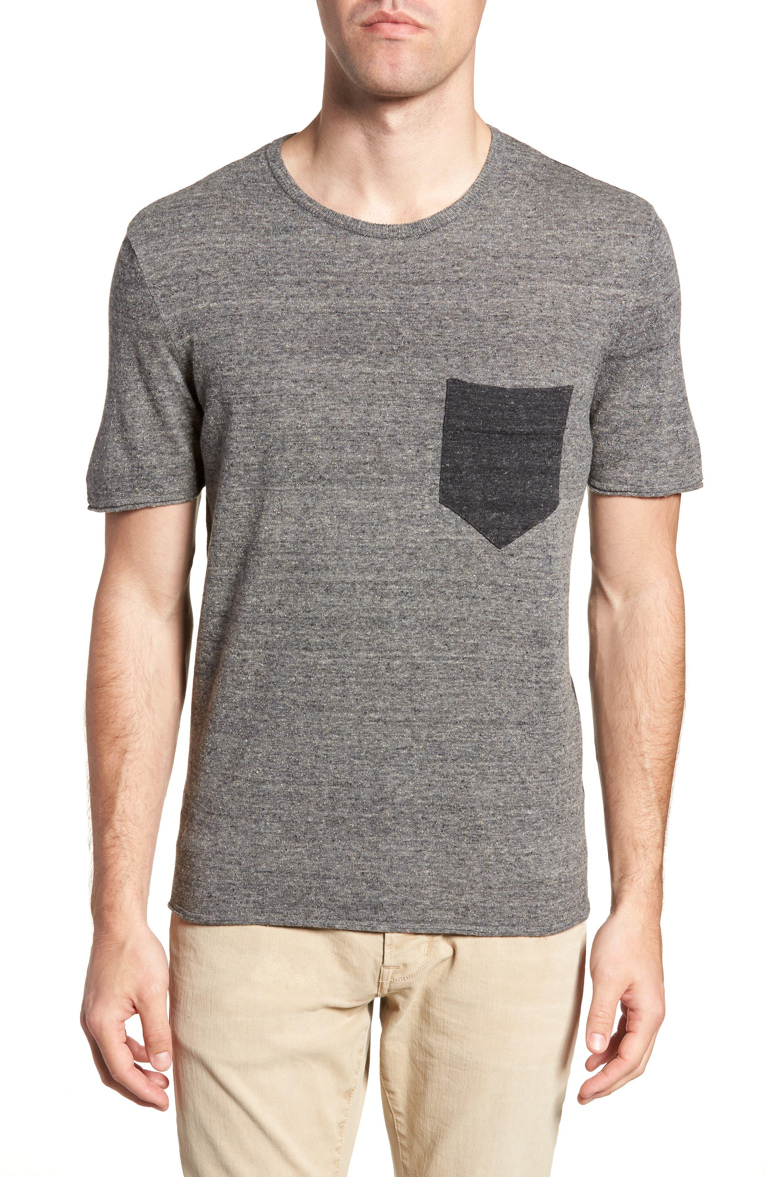 Two-Tone Crewneck T-Shirt,                         Main,                         color, 060