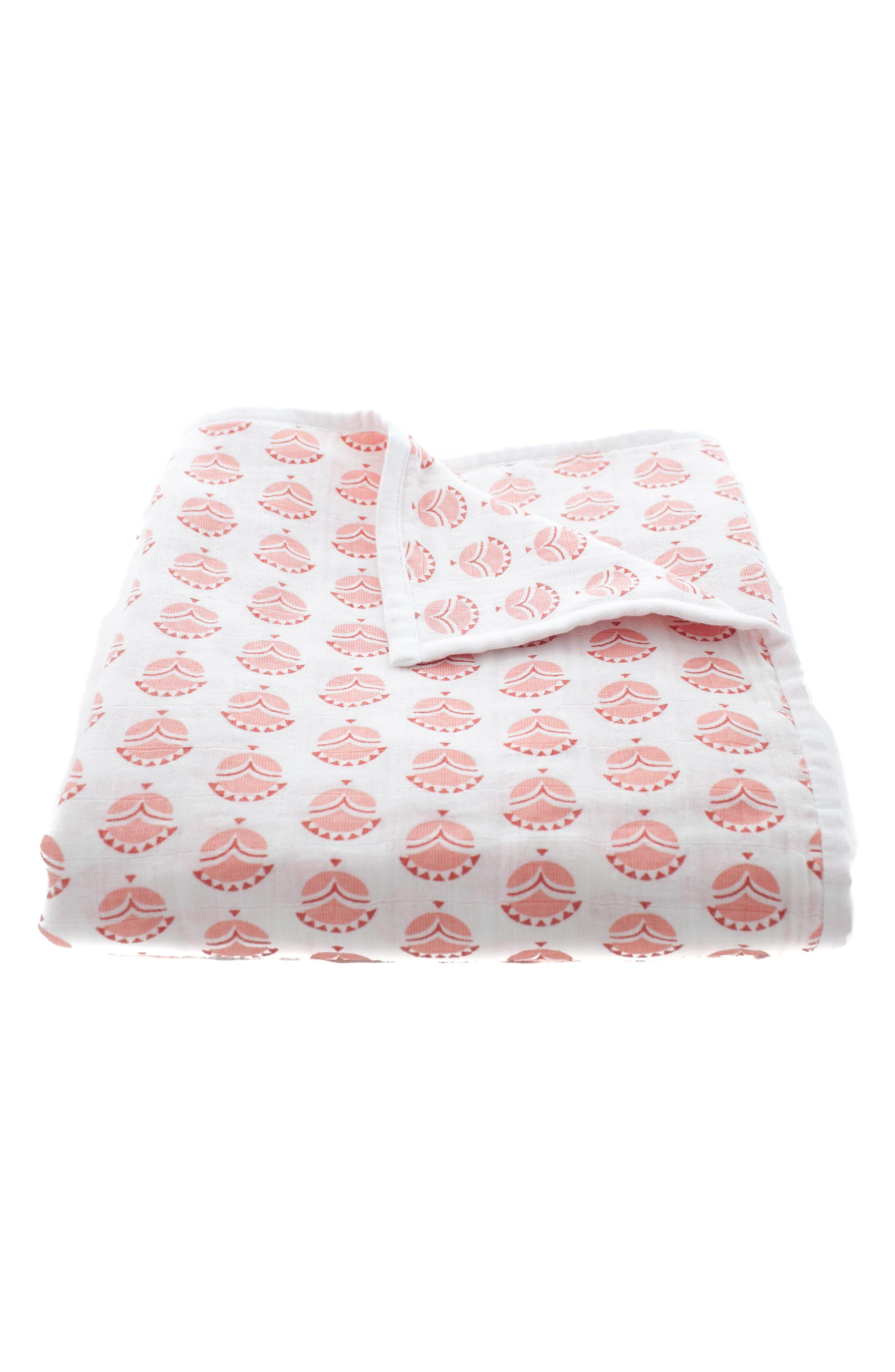 Mia Organic Cotton Blanket,                             Main thumbnail 3, color,
