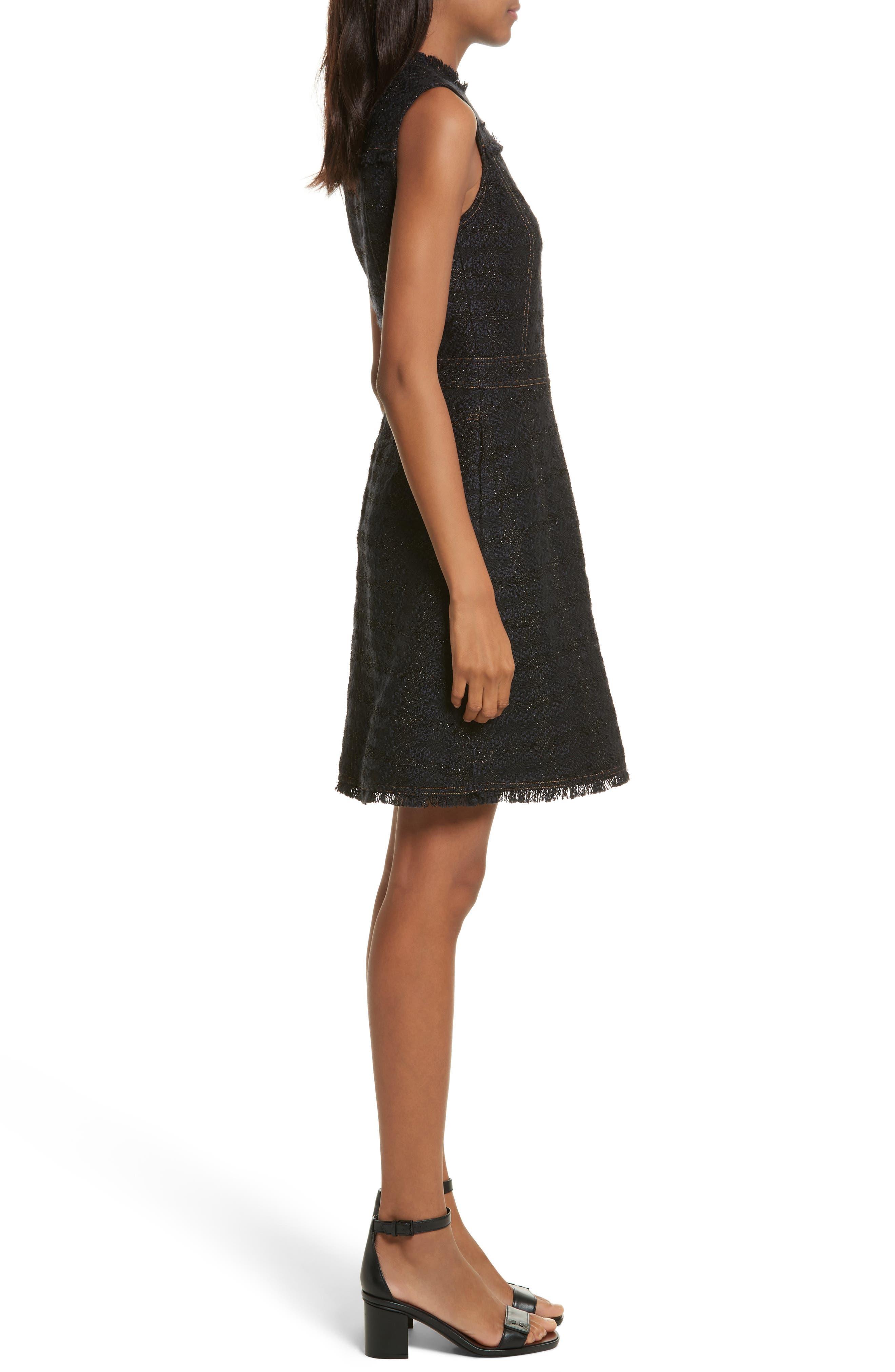 Aria Tweed Sheath Dress,                             Alternate thumbnail 3, color,                             007