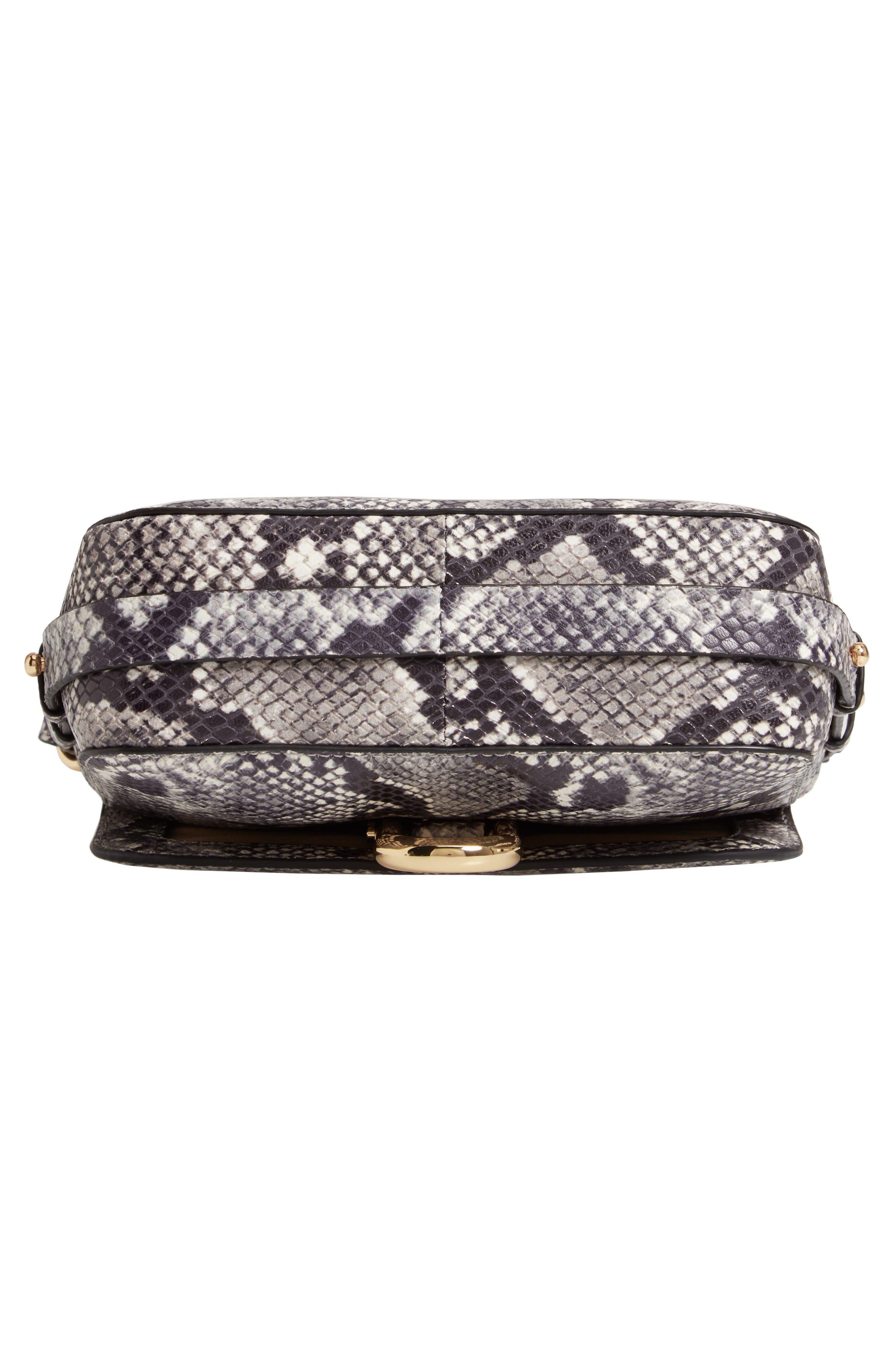 J.CREW,                             Harper Snake Embossed Leather Crossbody Bag,                             Alternate thumbnail 7, color,                             020