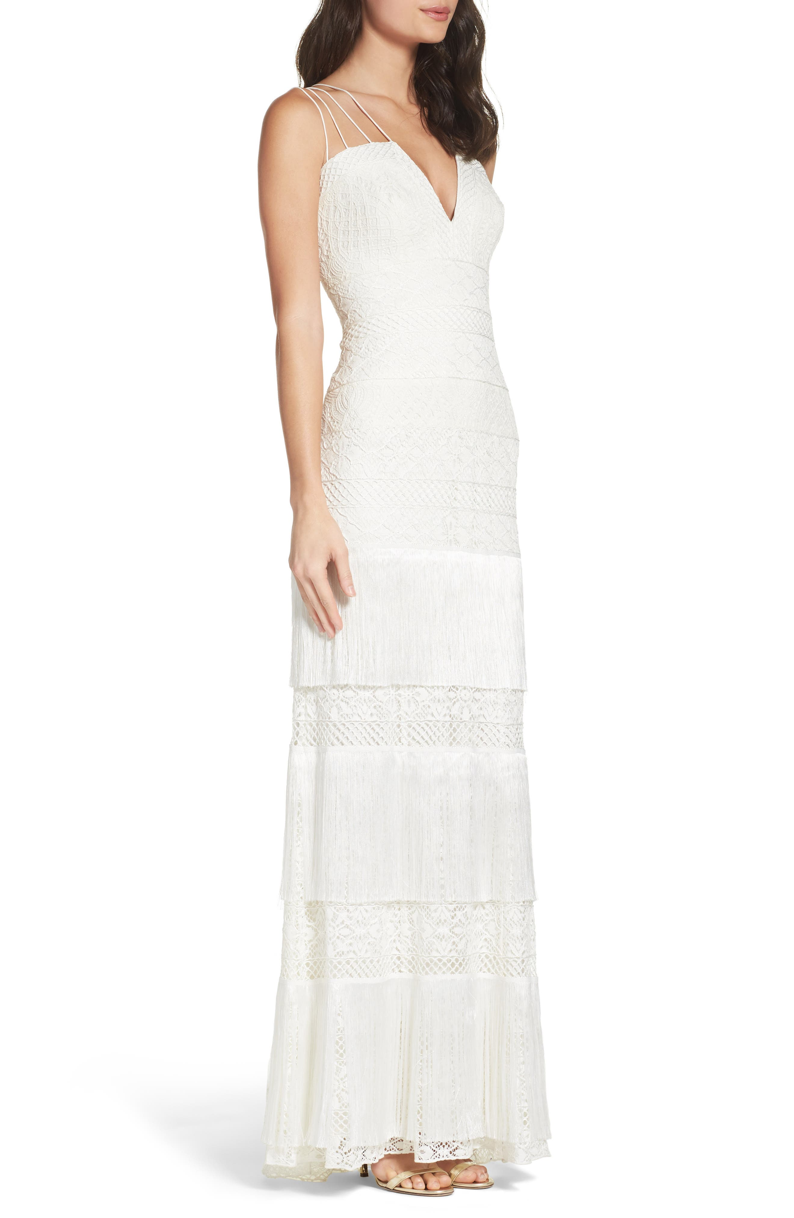 Embroidered Sheath Gown,                             Alternate thumbnail 3, color,