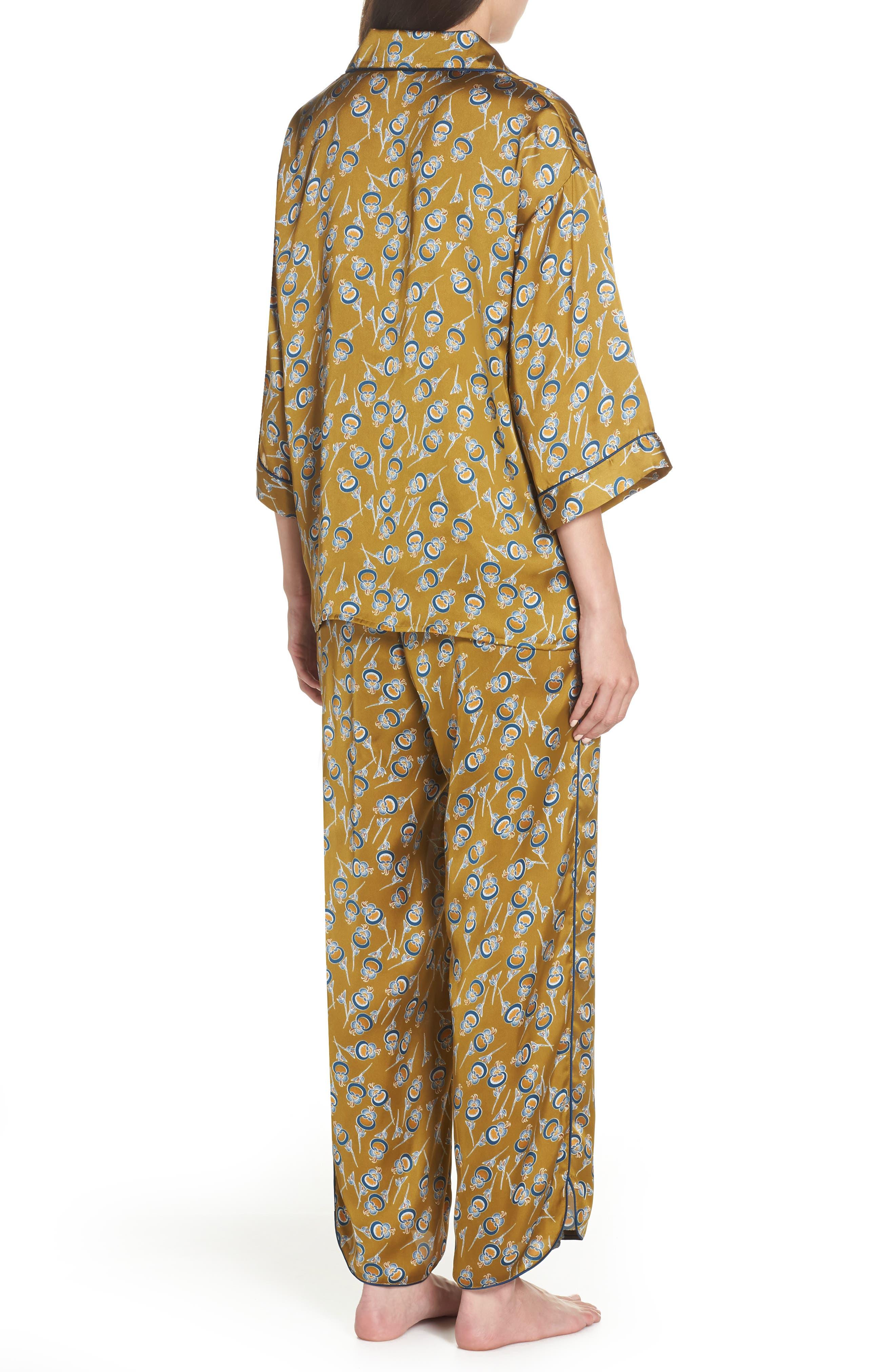 Ella Pajamas,                             Alternate thumbnail 2, color,                             OLIVE ESTATE ORIENTAL BLOOM