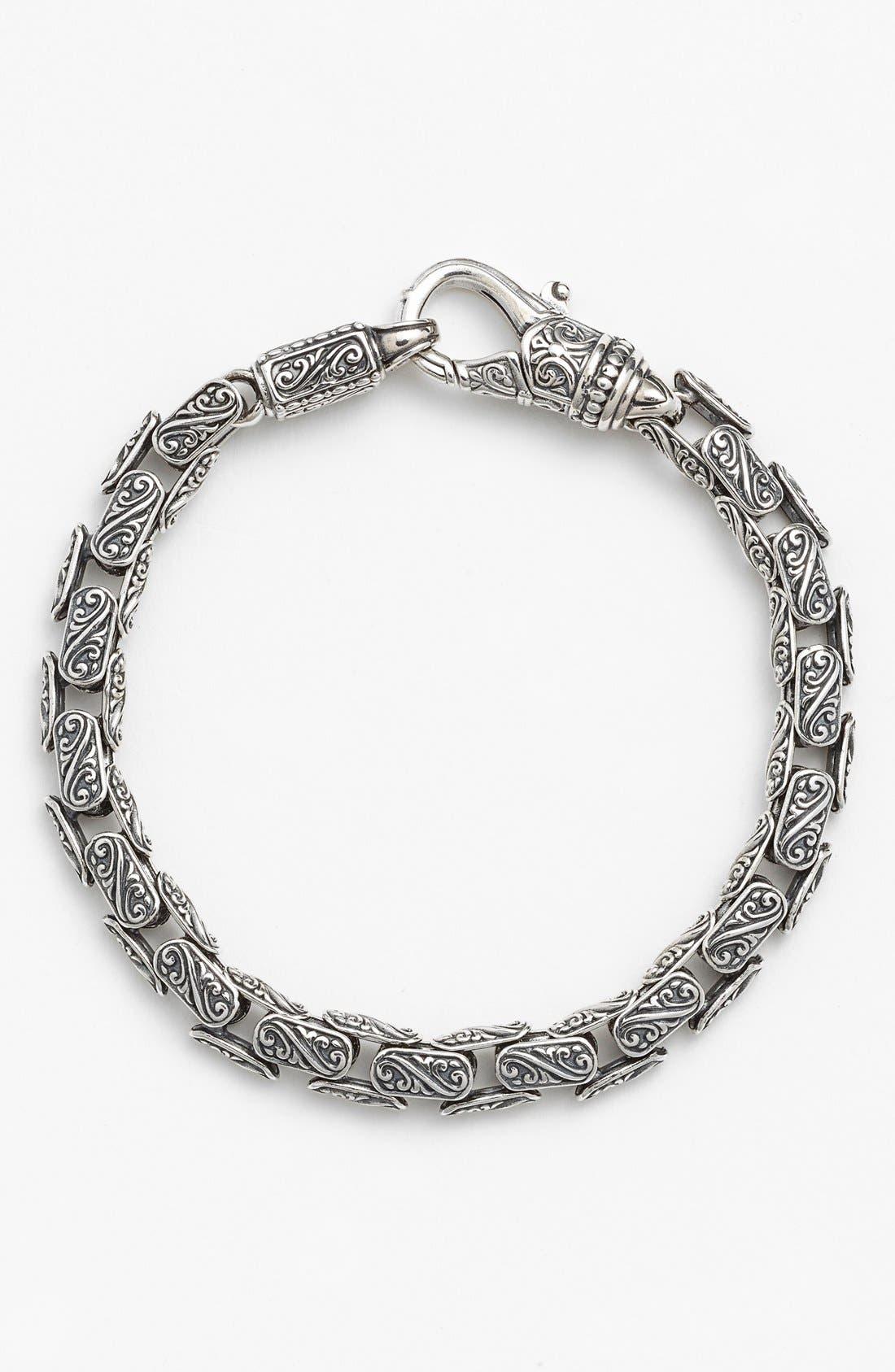 'Classics' Carved Bracelet,                             Main thumbnail 1, color,                             SILVER